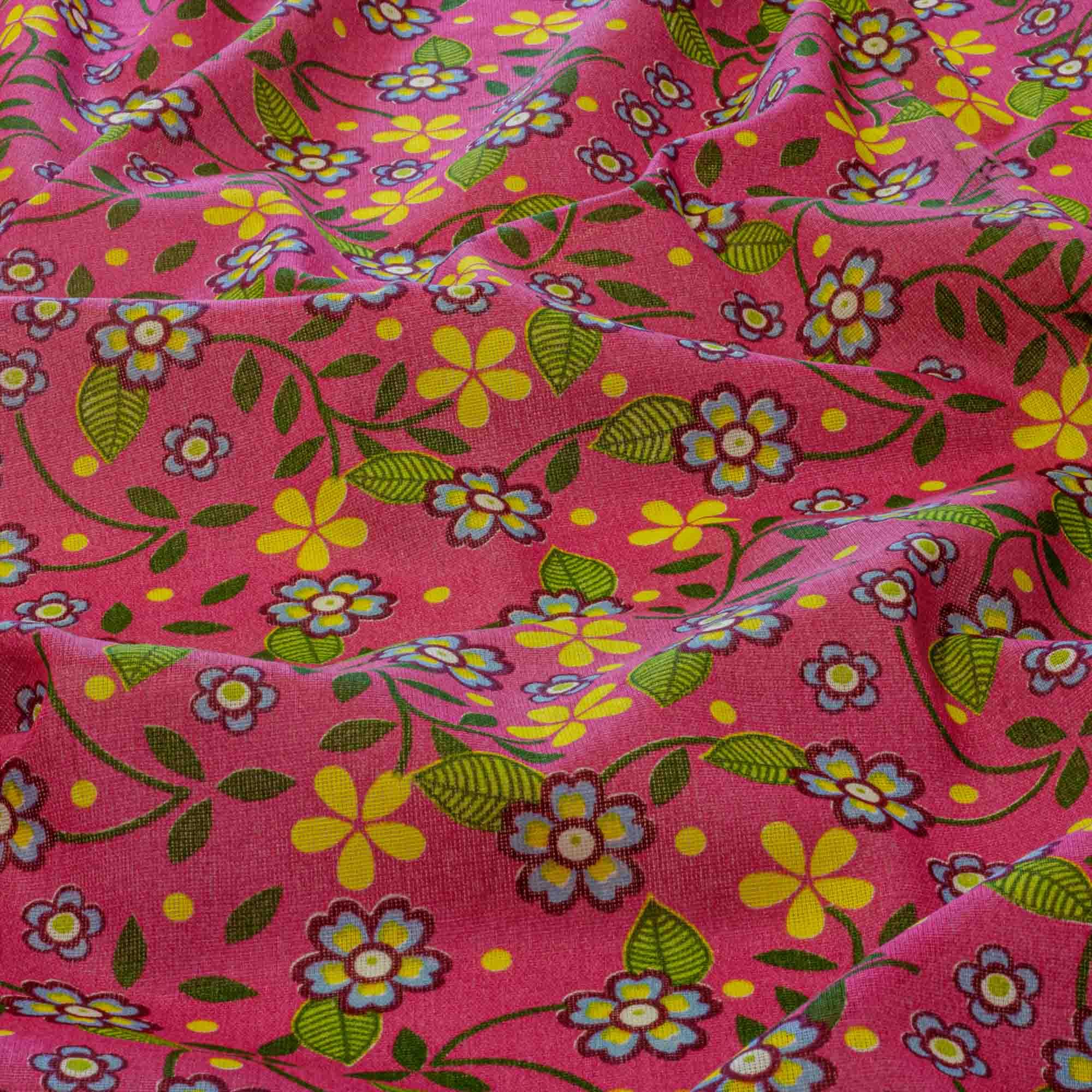 Tecido Chita Estampada Floral Fundo Uva 100% Algodão 1,40 Mt Largura