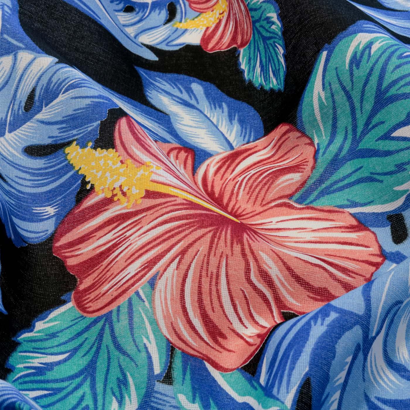 Tecido Chitão Estampado Flores 100% Algodão Preto