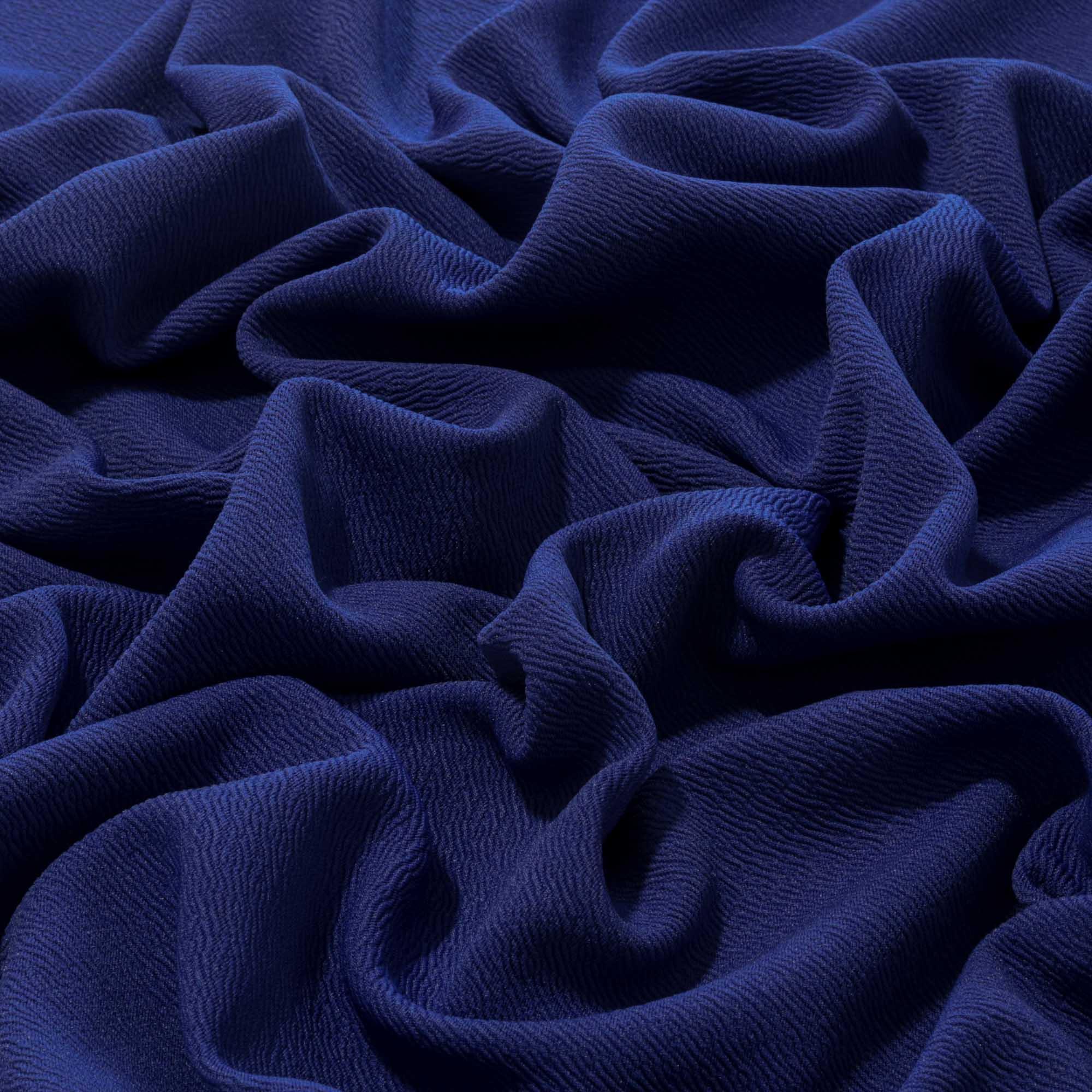 Tecido Crepe de Malha 1,60 m Largura Azul Royal