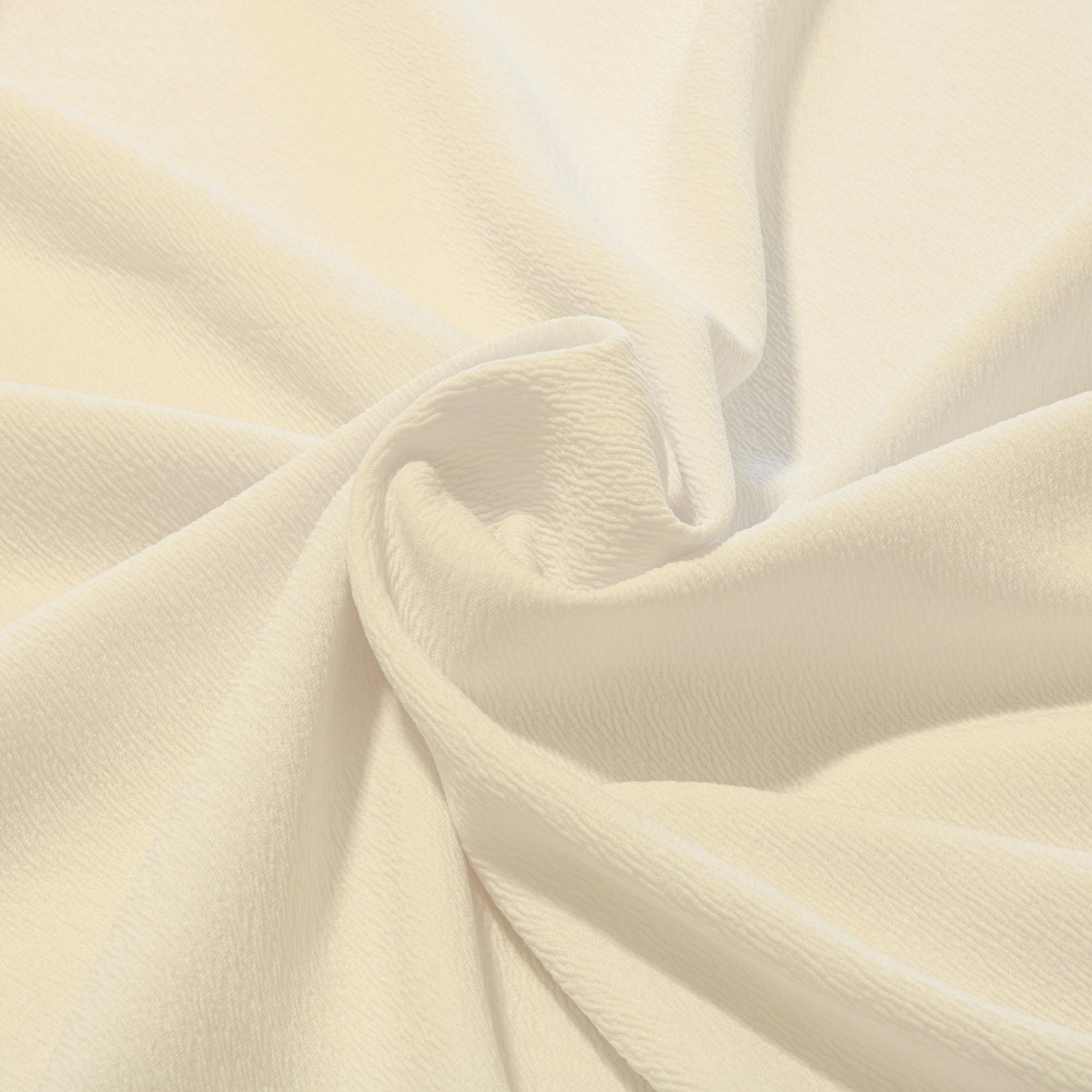 Tecido Crepe de Malha 1,60 m Largura Branco