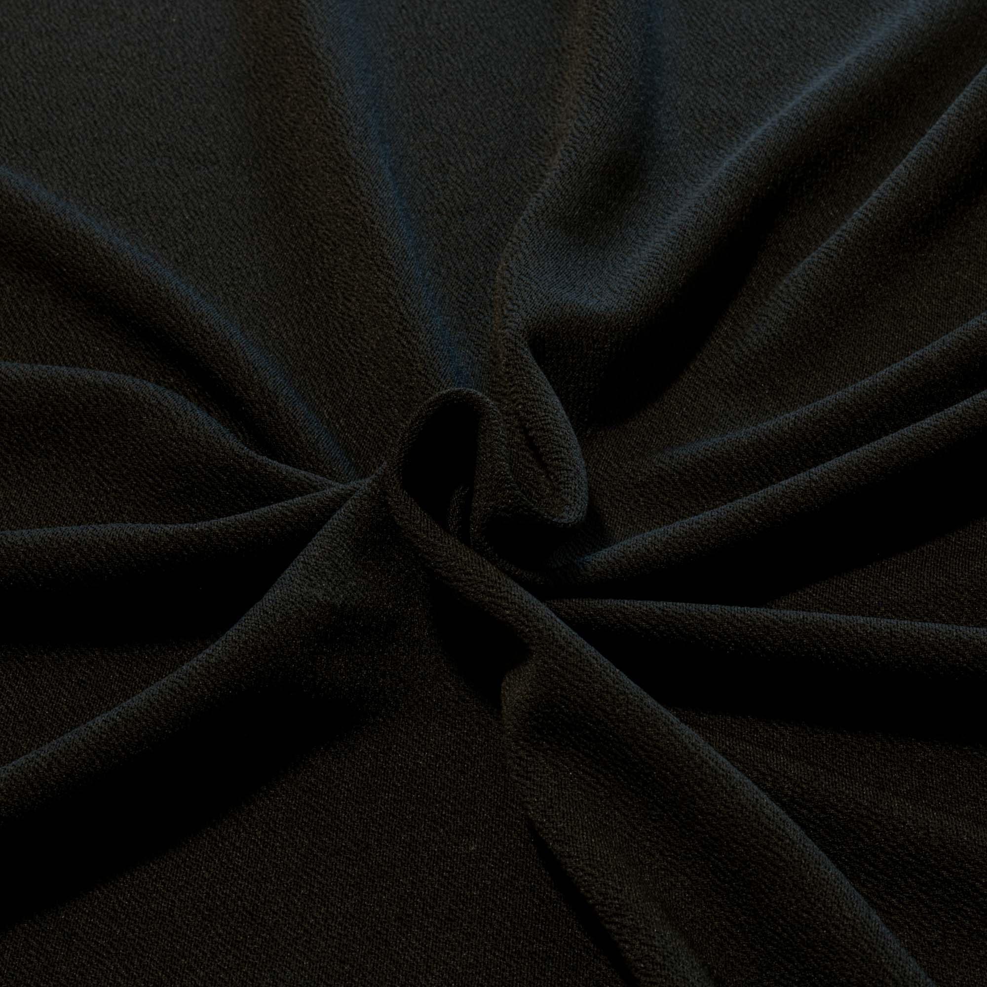 Tecido Crepe de Malha 1,60 m Largura Preto