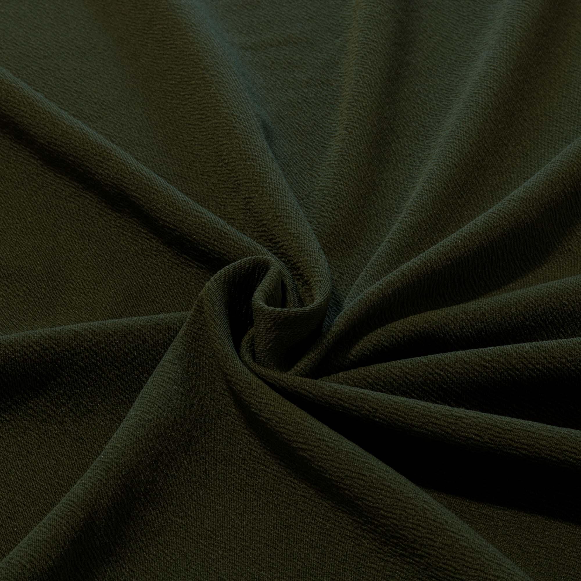 Tecido Crepe de Malha 1,60 m Largura Verde Militar