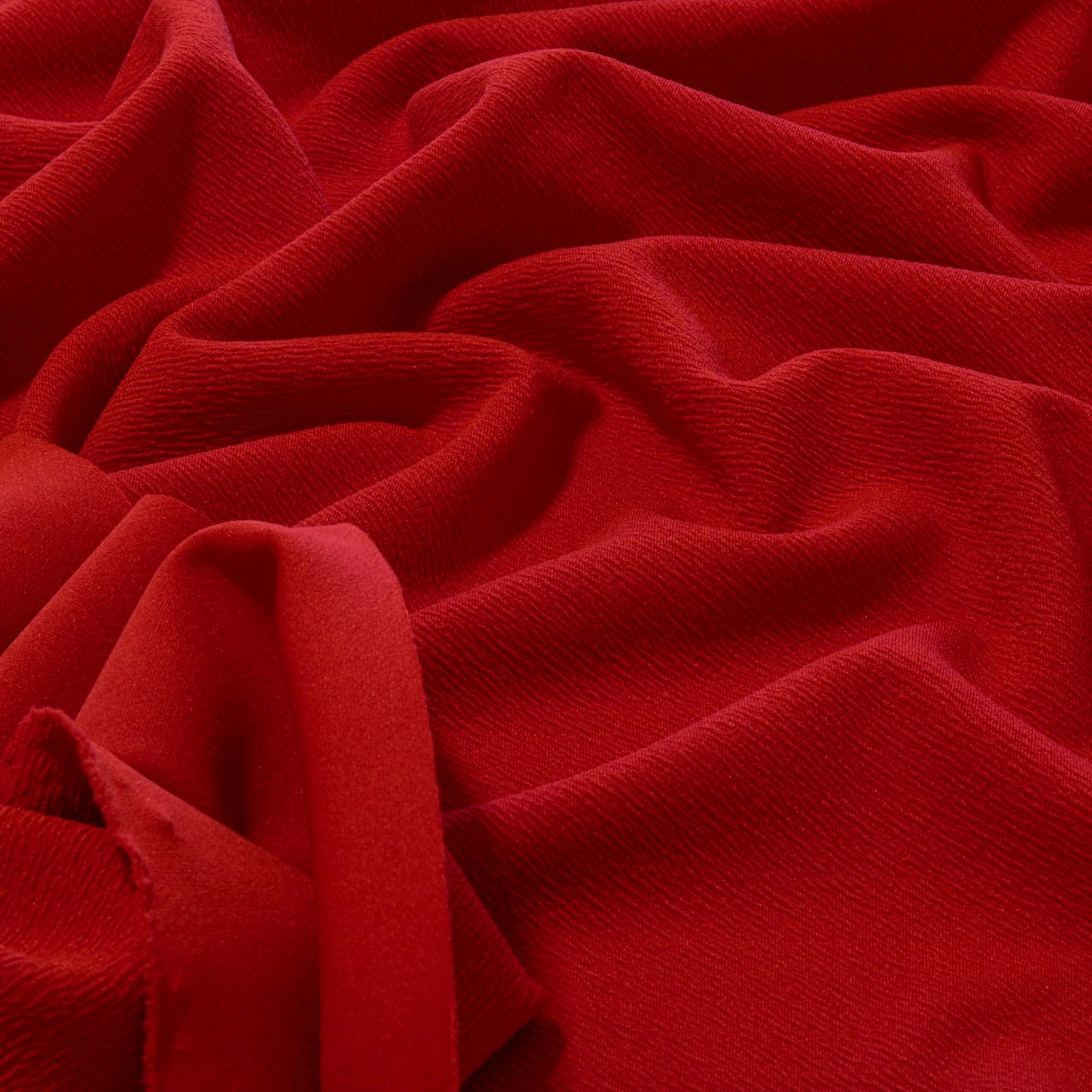 Tecido Crepe de Malha 1,60 m Largura Vermelho