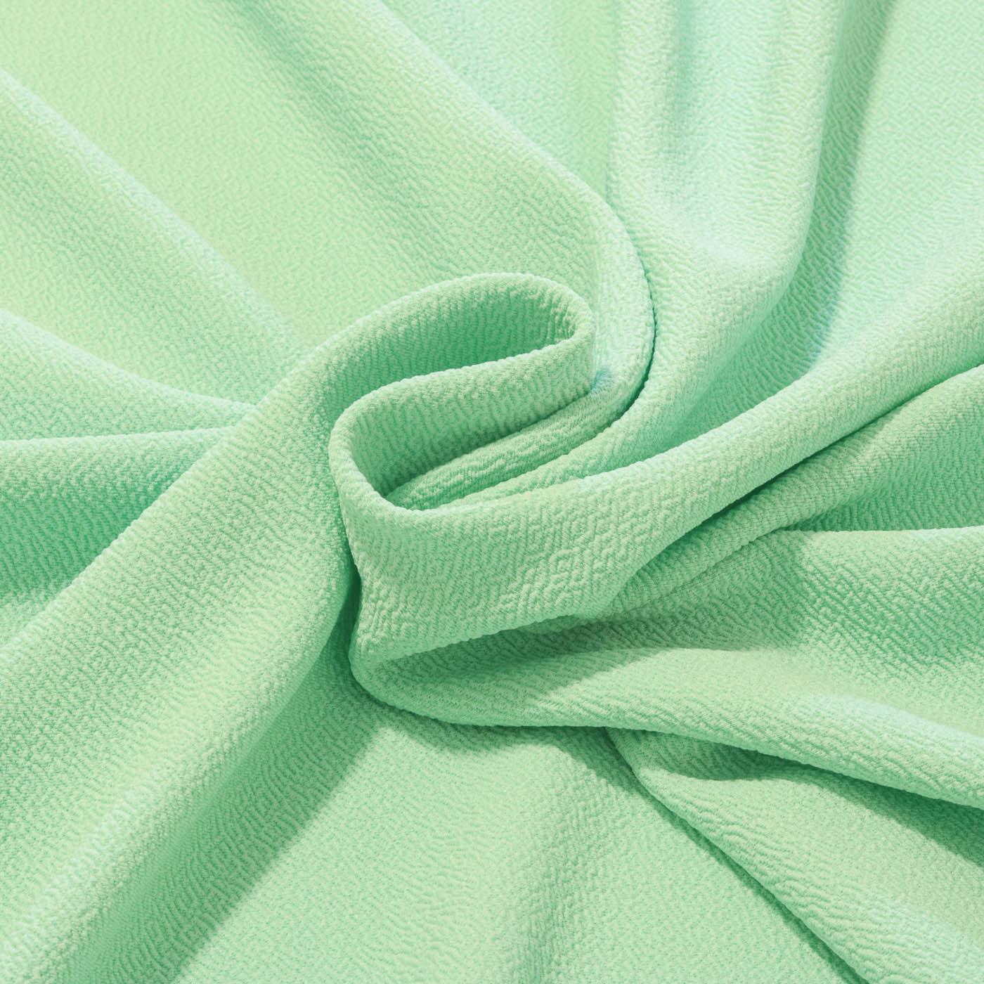 Tecido Crepe de Malha Com Elastano 1,60m Largura Verde Claro