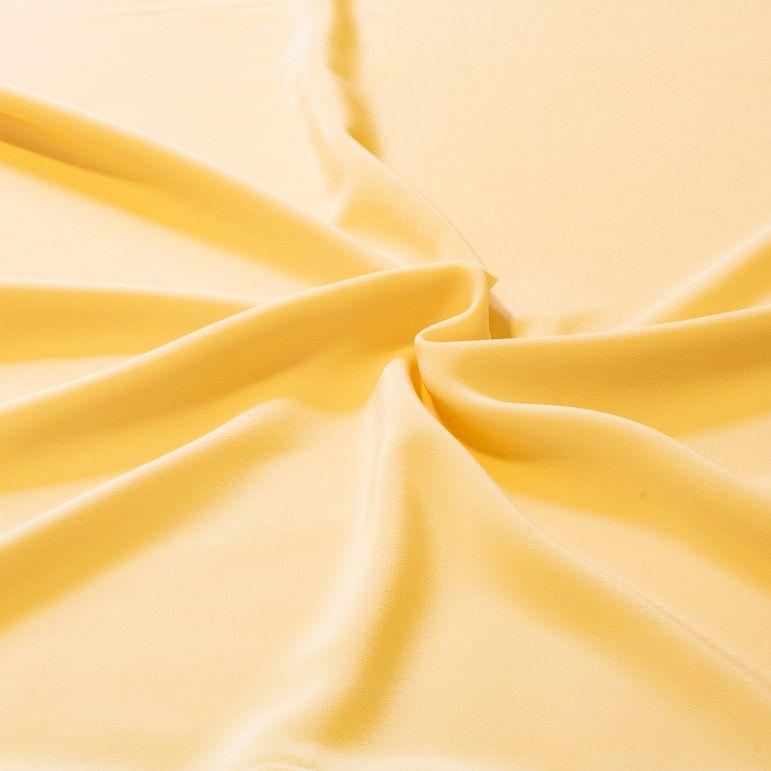 Tecido Crepe de Seda Creme 100% Poliester 1,40 m Largura