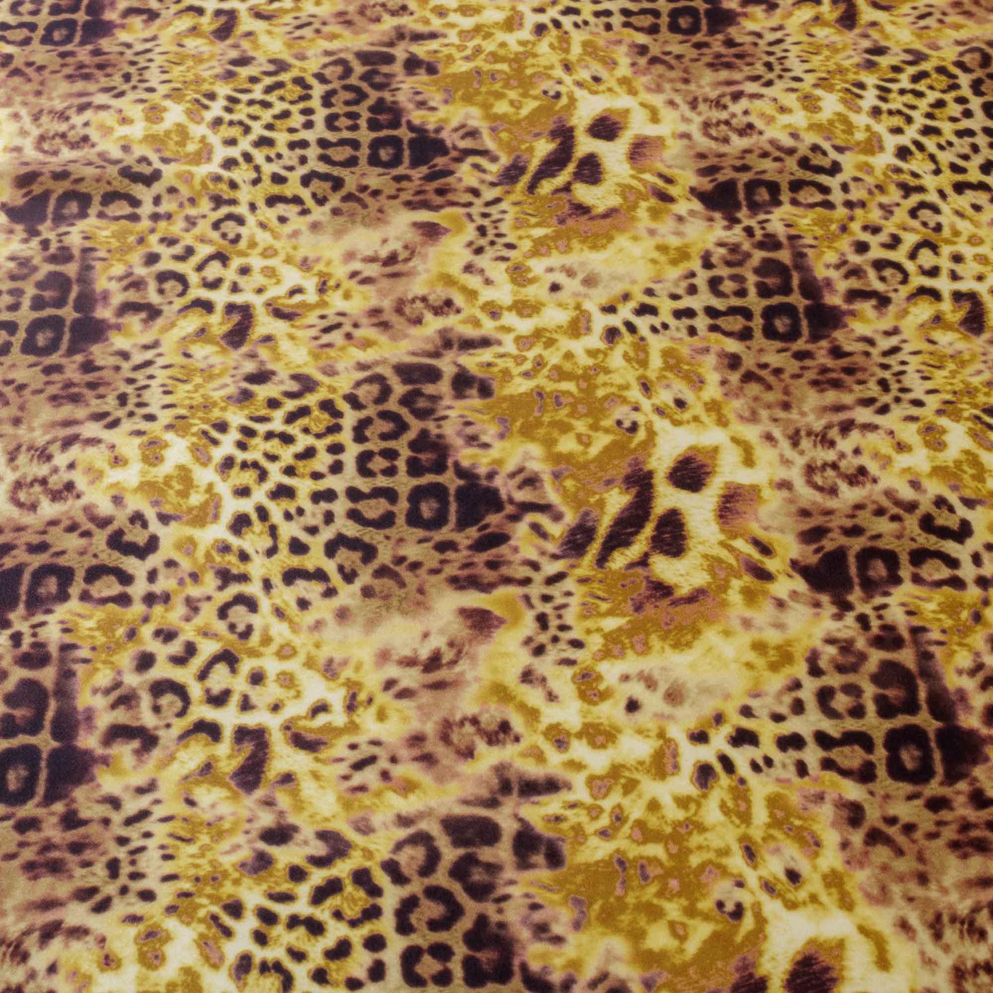 Tecido Crepe de Seda Estampado Onça 100% Poliester 1,50 m Largura