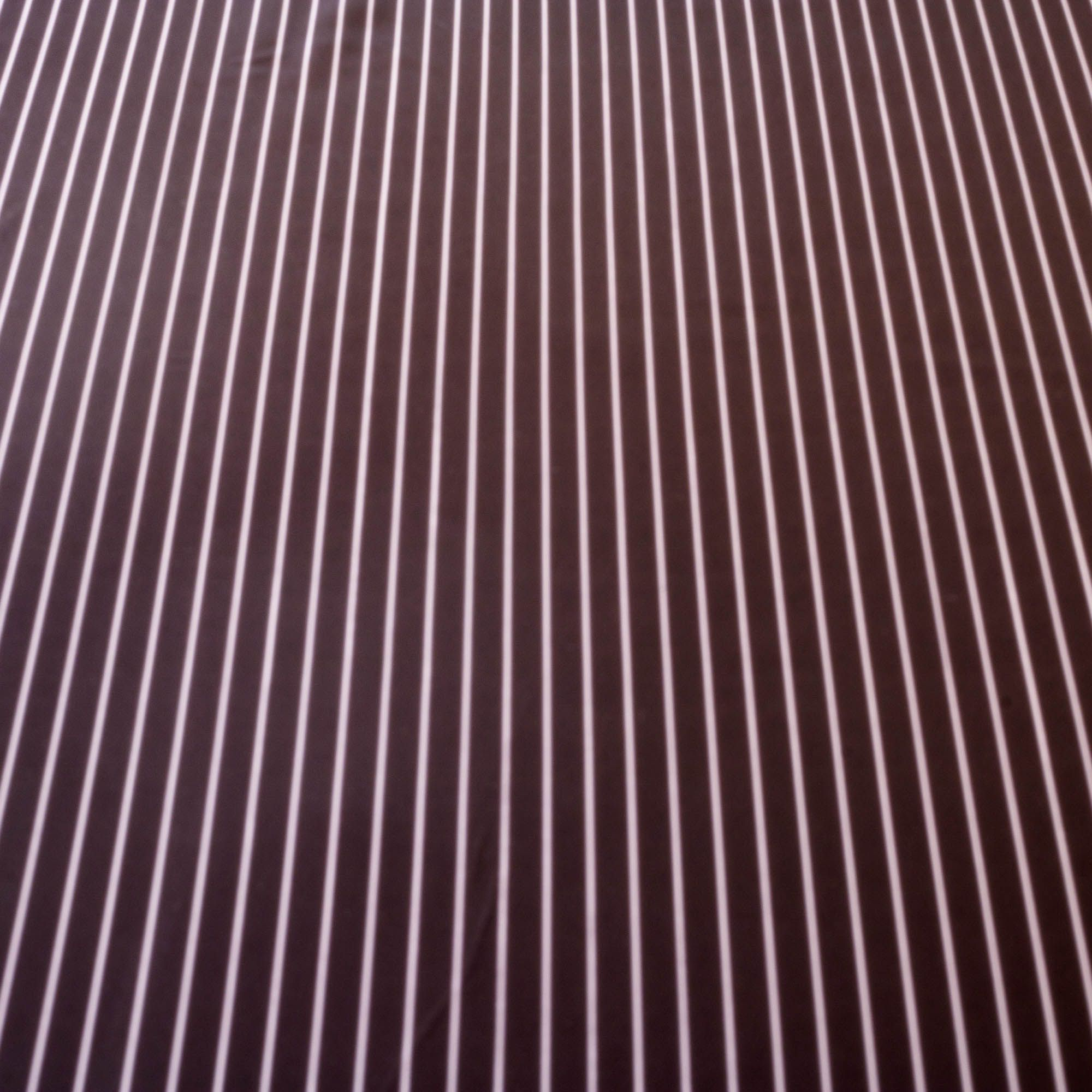 Tecido Crepe de Seda Listrado Preto 100% Poliester 1,50 m Largura