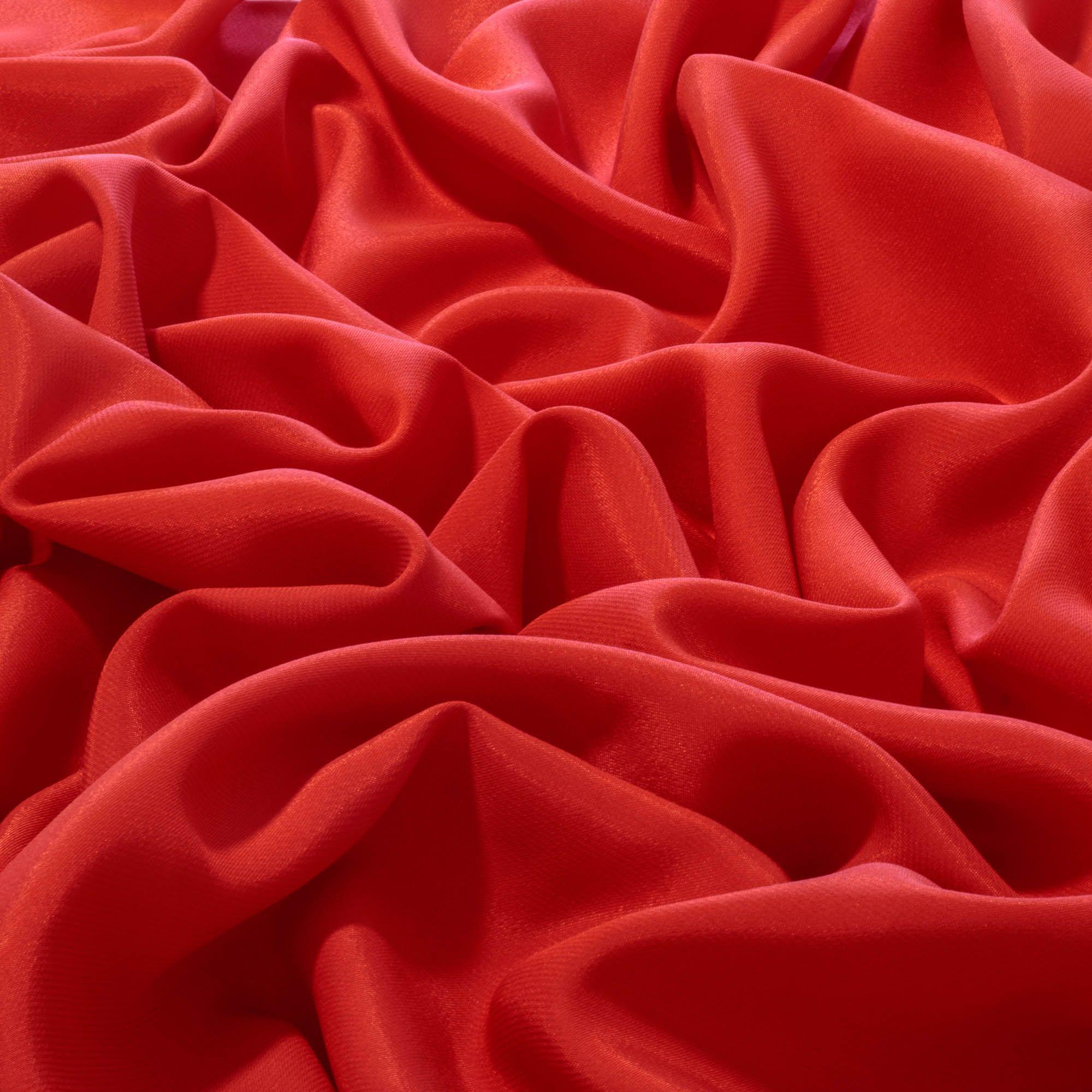 Tecido Crepe Patu Vermelho Cereja 100% Poliester 1,40 m Largura