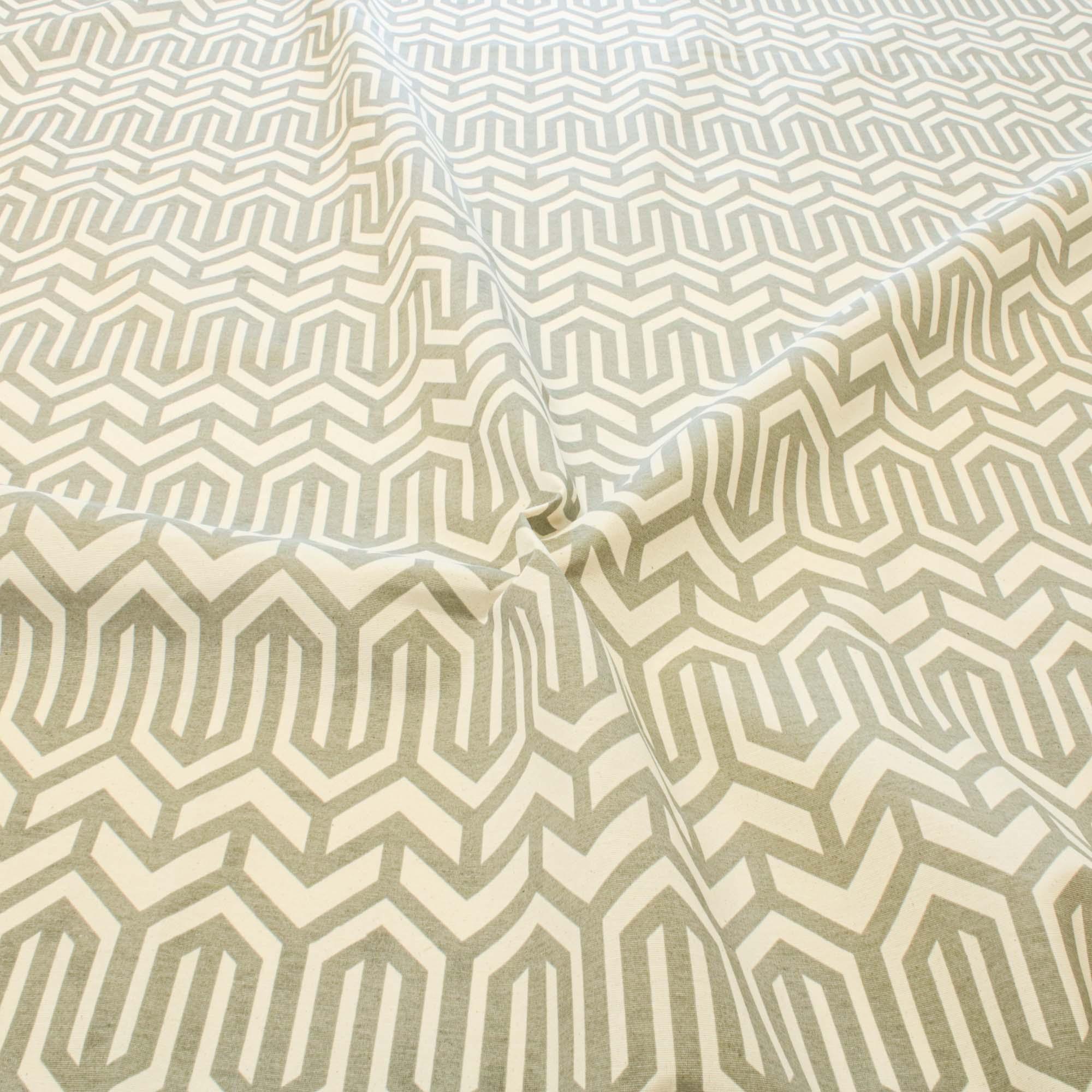 Tecido Decoração Estampado Geométrico 1,42 Mt Largura Cinza