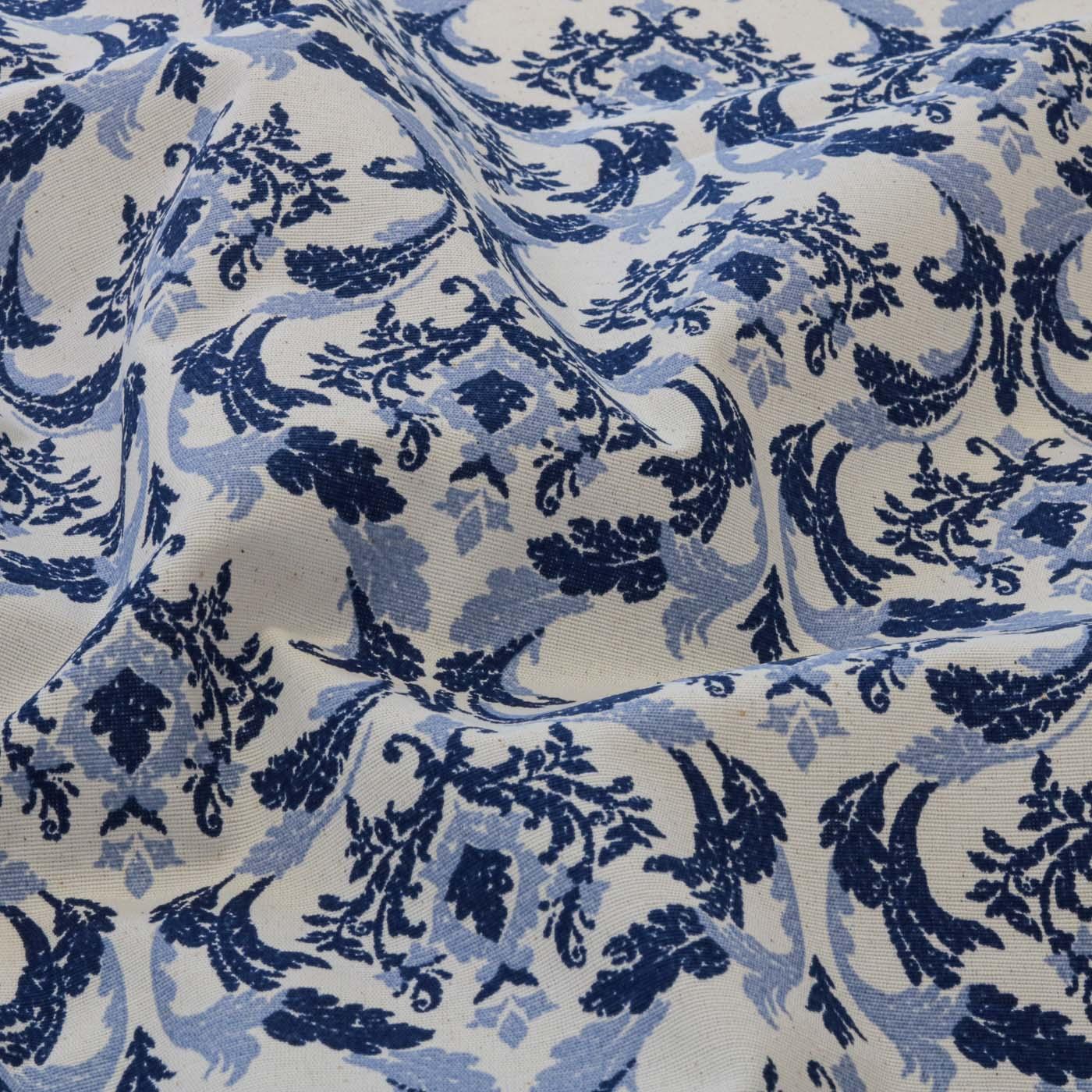 Tecido Decoração Para Parede Arabesco 1,40 m Largura Azul