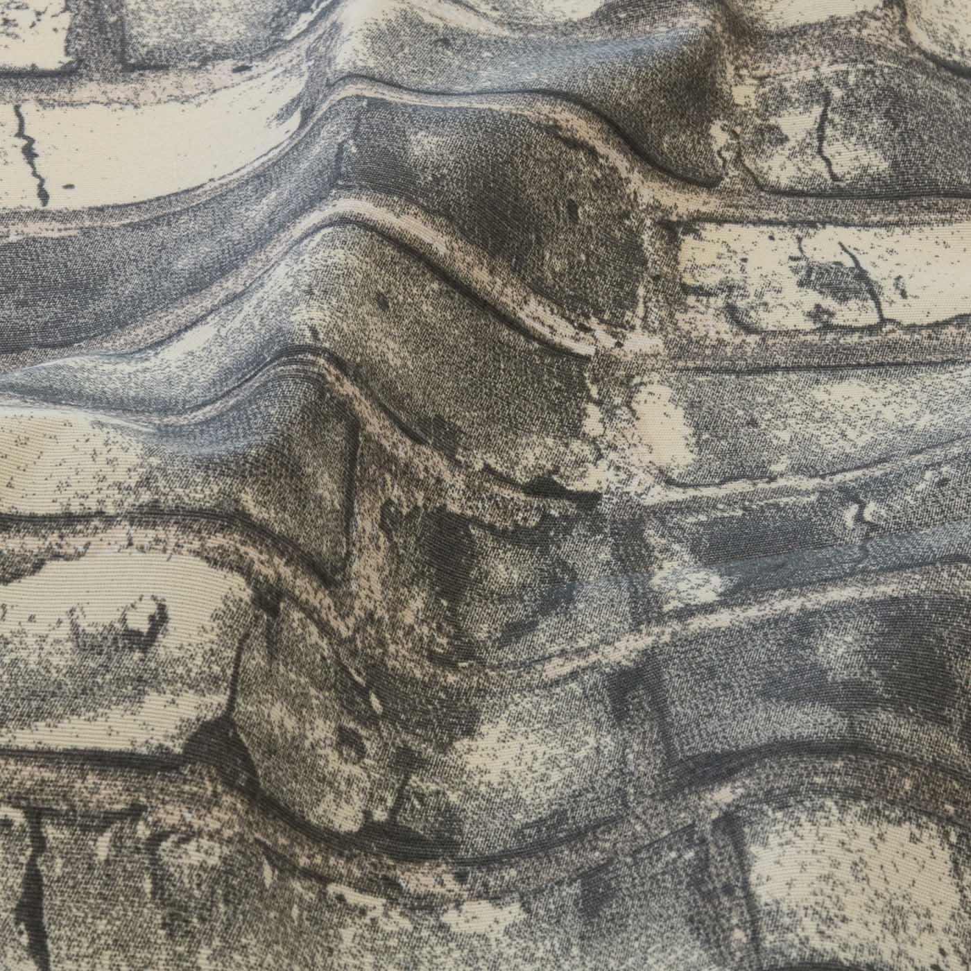 Tecido Decoração Para Parede Tijolo 1,40 Mt Largura Cinza