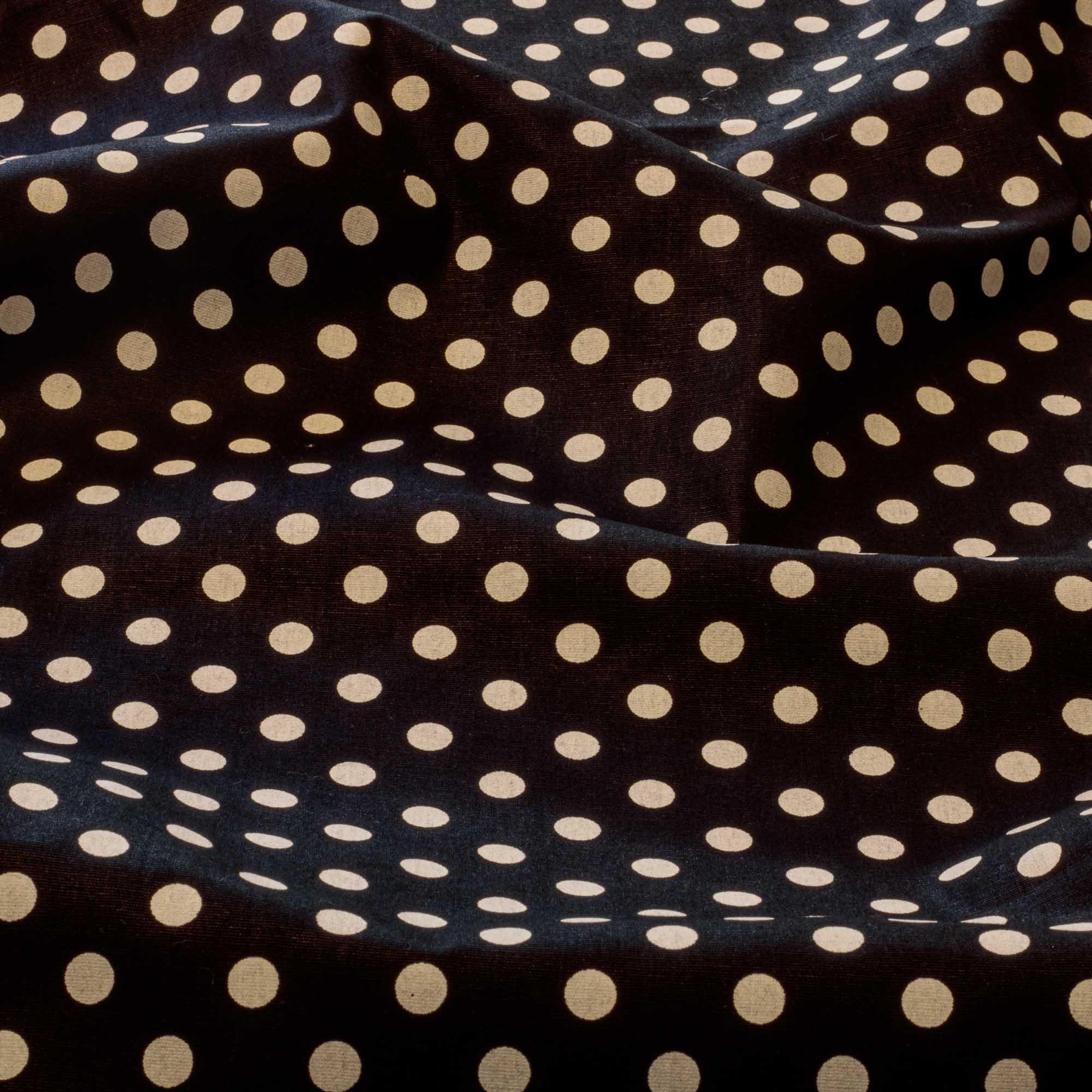 Tecido estampado poa bolinha tricoline 100% algodão preto