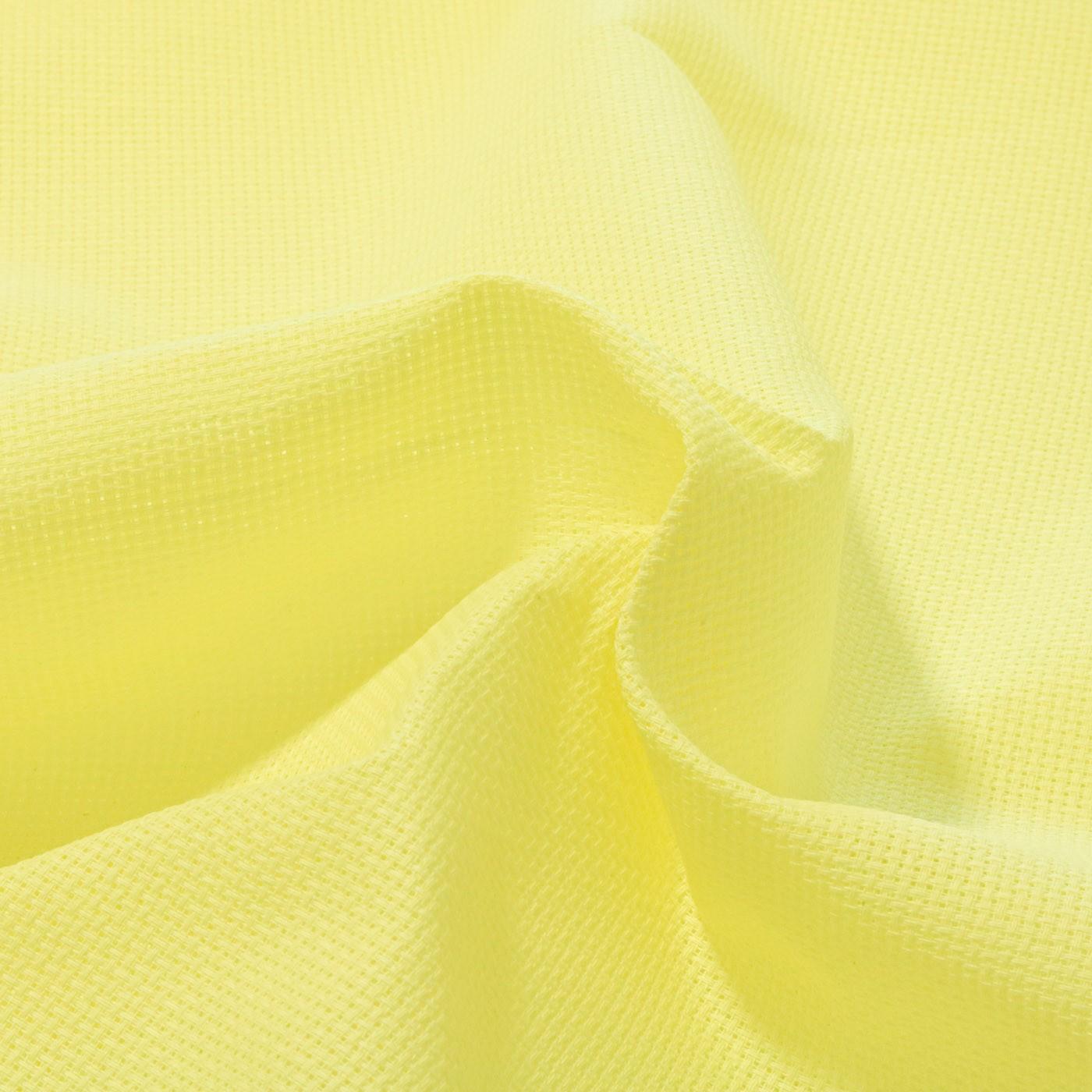 Tecido Etamine 100% Algodão 1,40 m Largura Amarelo Bebê