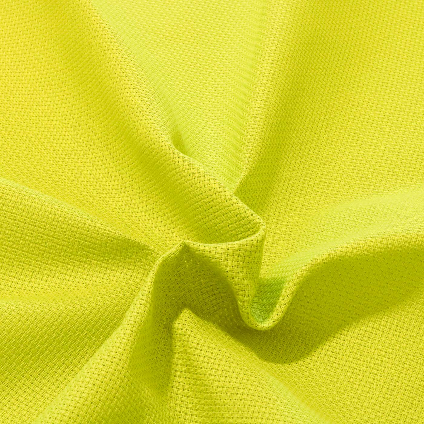 Tecido Etamine 100% Algodão 1,40 m Largura Verde Limão