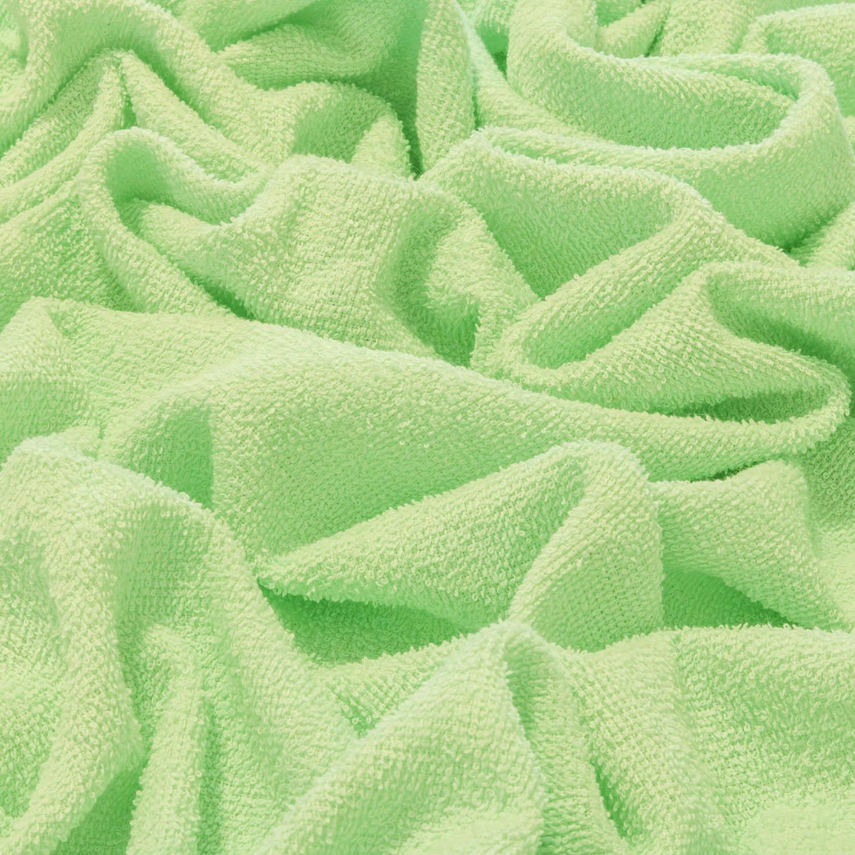 Tecido Felpudo Atoalhado 100% Algodão Verde Água