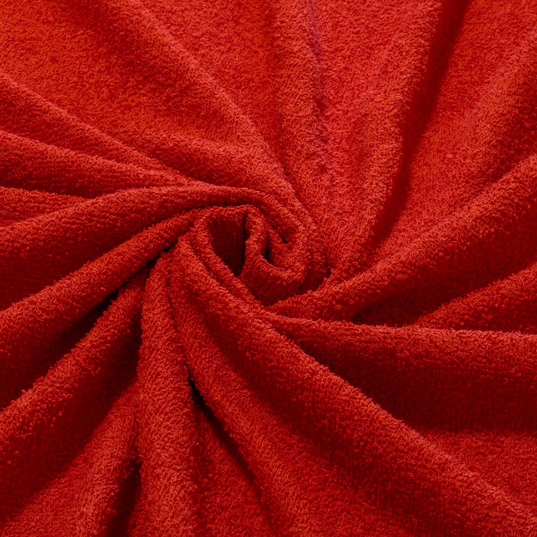 Tecido Felpudo Atoalhado 100% Algodão Vermelho