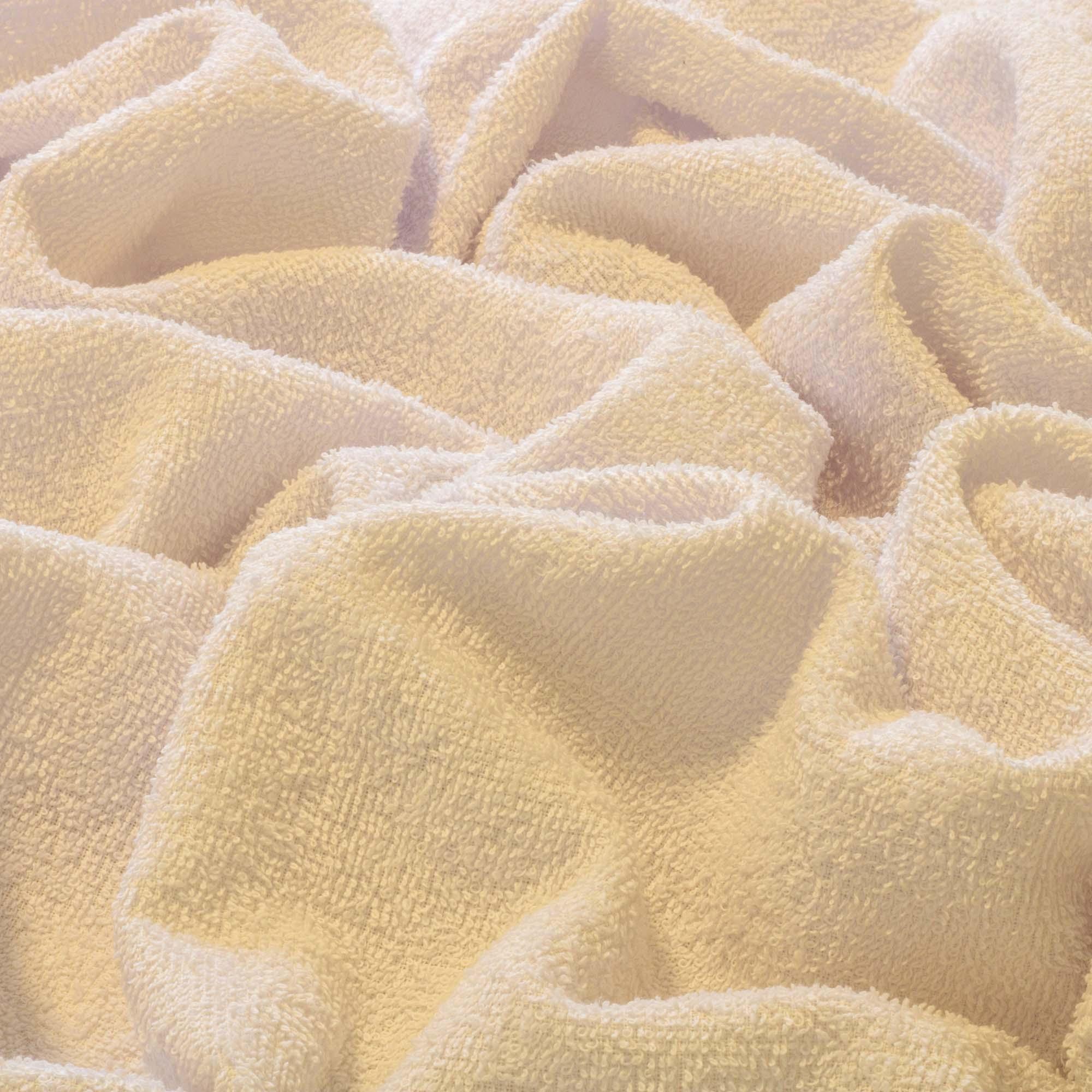 Tecido Felpudo Atoalhado Branco 100% Algodão 1,40 Mt Largura