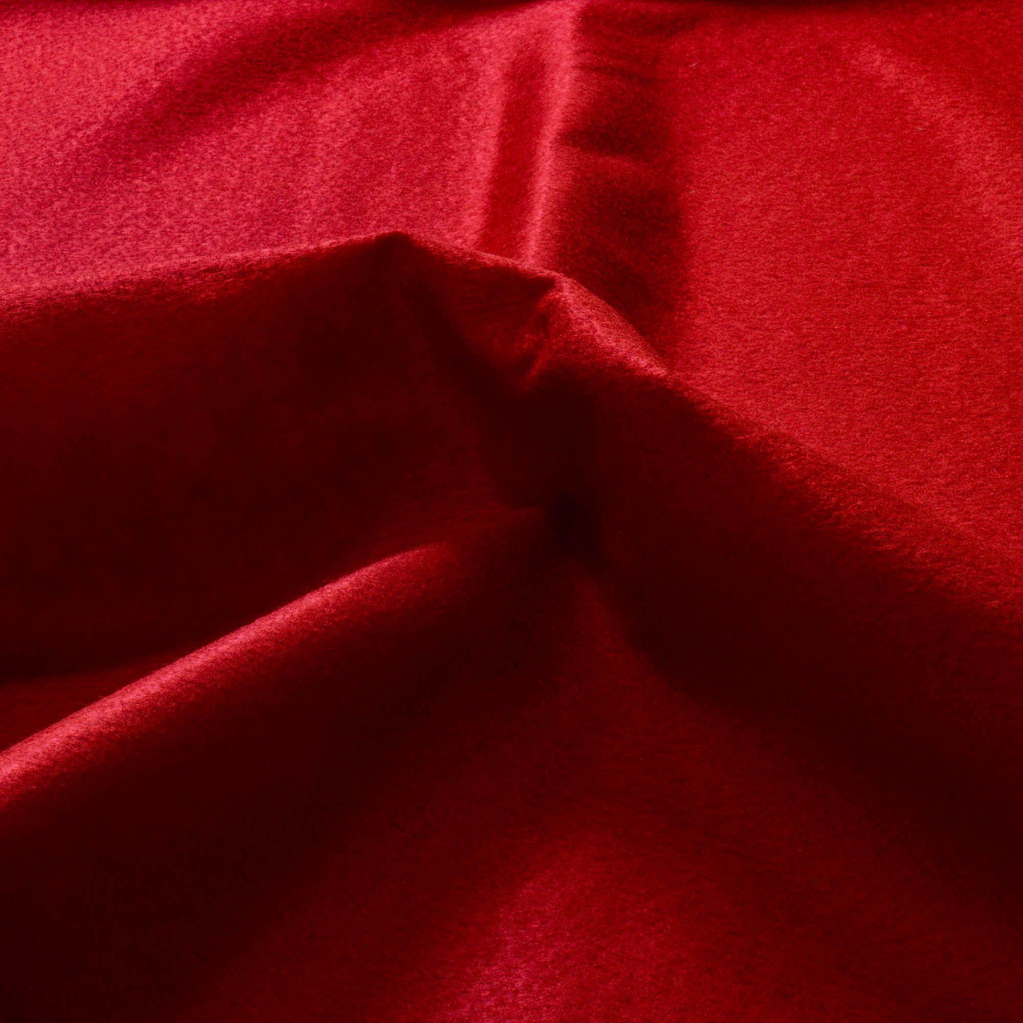 Tecido Feltro Vermelho 100% Poliester 1,40 Mt Largura