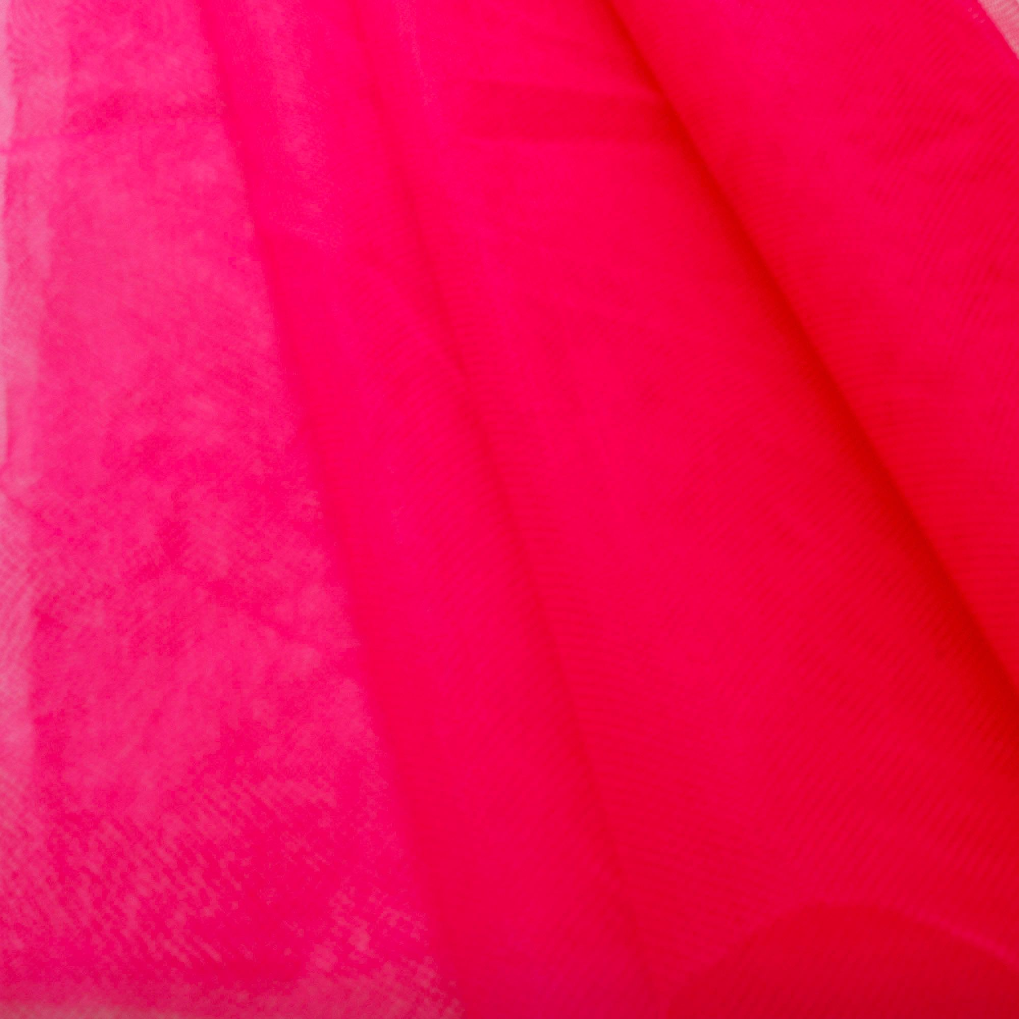 Tecido Filó Rosa Pink 100% Poliamida 3 m Largura