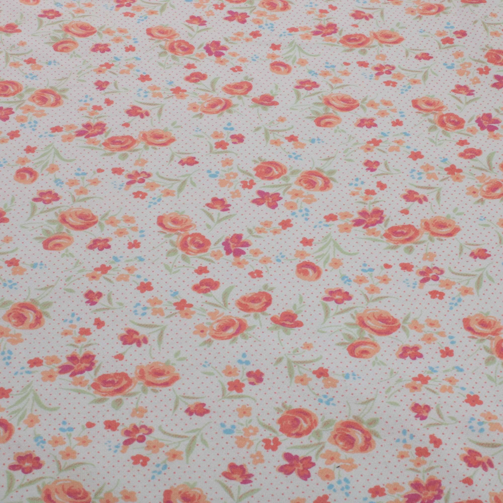 Tecido Flanela Estampada 100% Algodao 1,60 m Largura Flores