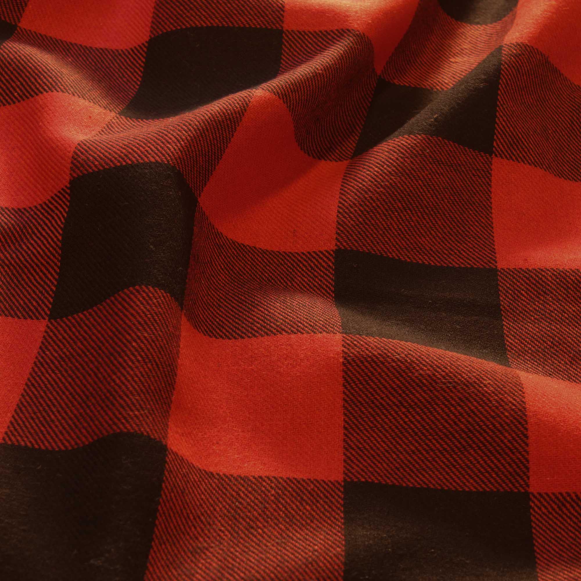 Tecido Flanela Xadrez 1,40 Mt Largura Vermelho/Preto