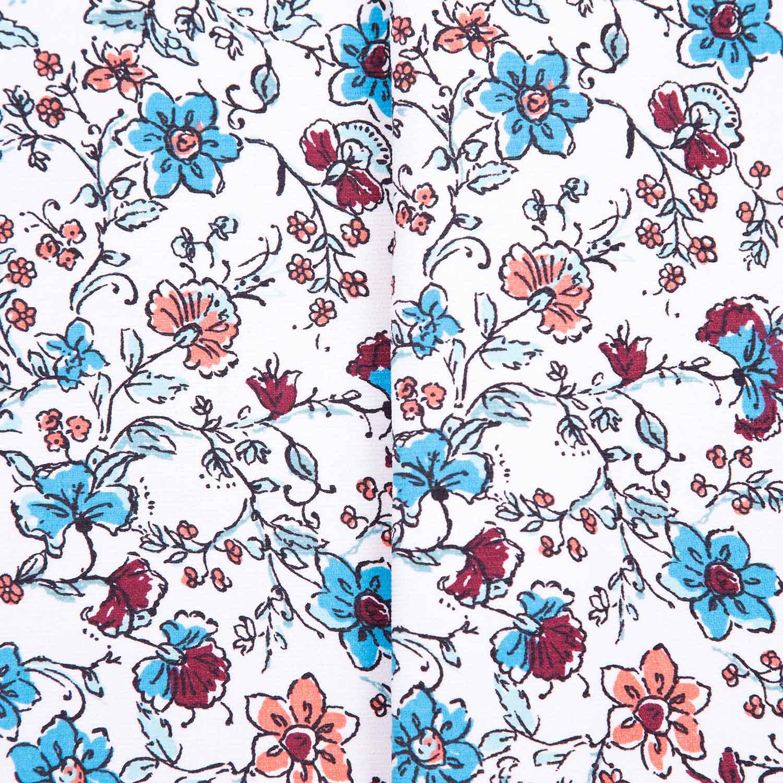 Tecido Fustao Estampado Flores Diversas 100% Algodão 1,40 m Largura