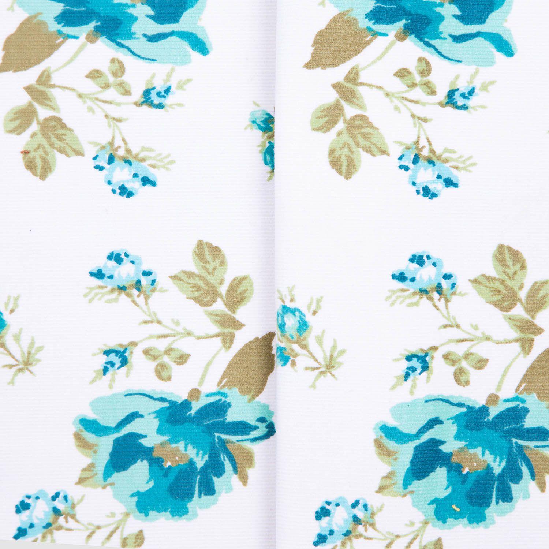Tecido Fustao Estampado Flores Verde 100% Algodão 1,40 m Largura