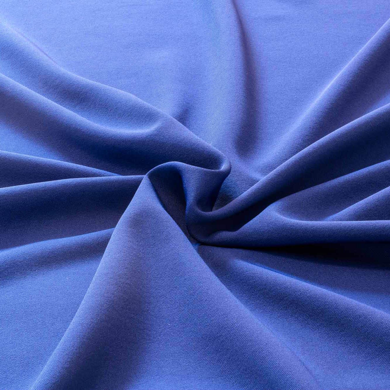 Tecido Gabardine Liso Two Way Com Elastano Azul Royal