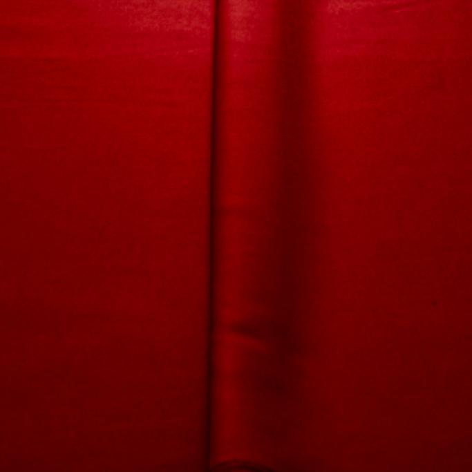 Tecido Gabardine Liso Two Way Com Elastano Vermelho Marsalla