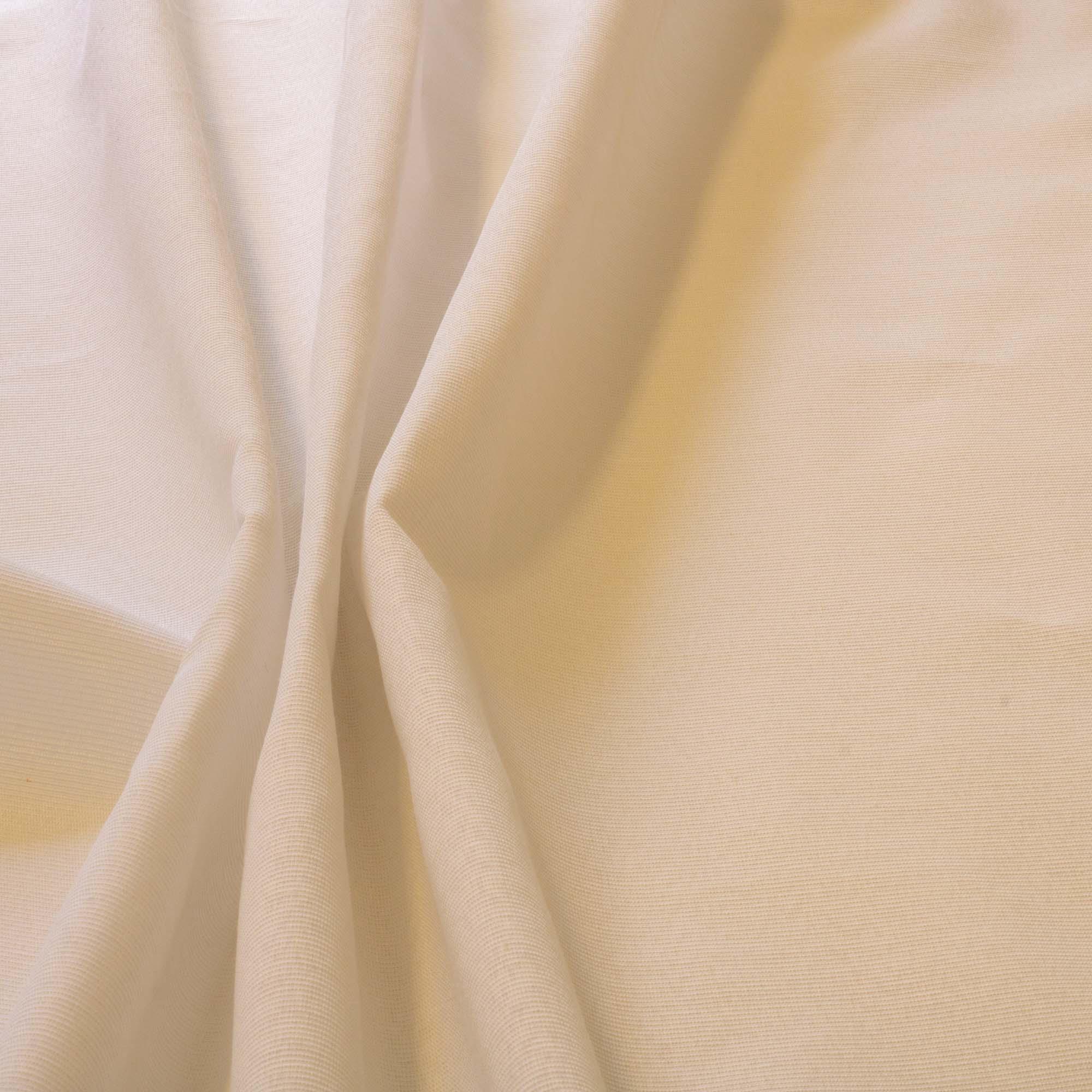 Tecido Gorgurinho Branco 52% Poliester 48% Algodão 1,50 m Largura