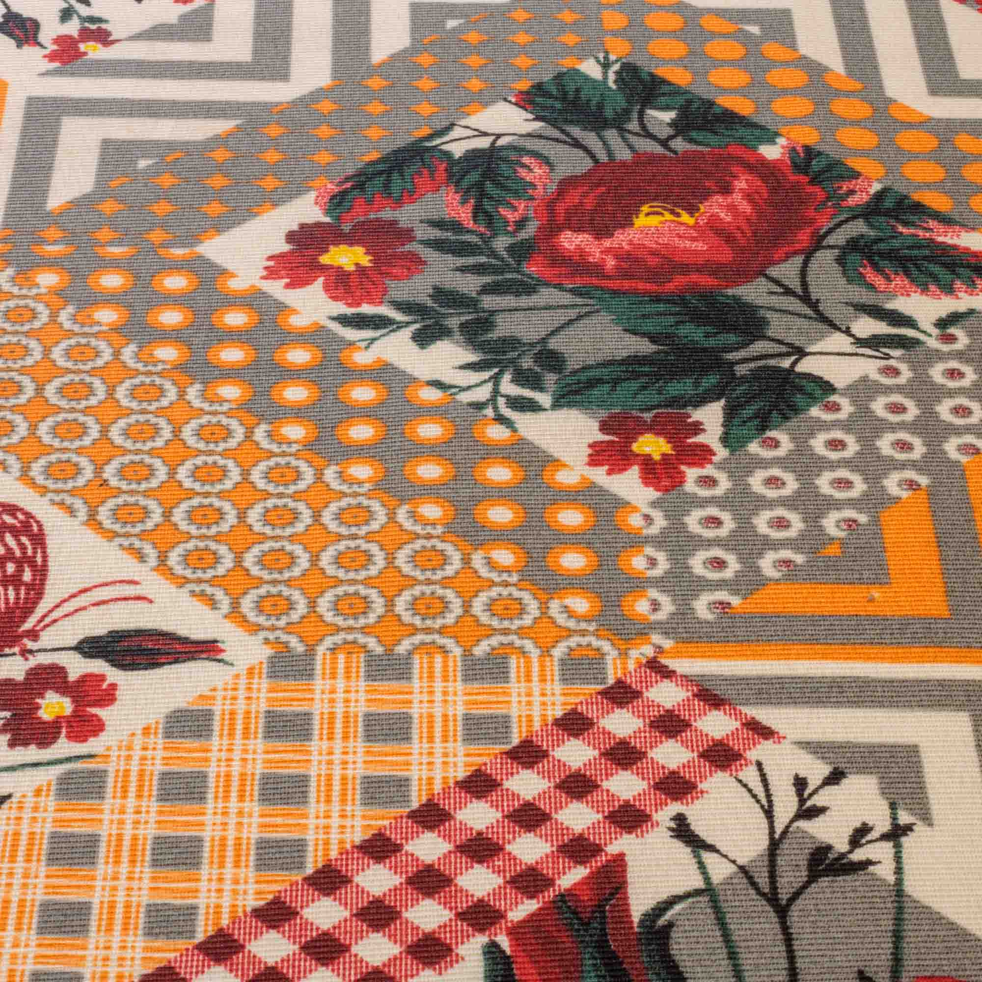 Tecido Gorgurinho Estampado Floral 1,50 Mt Largura