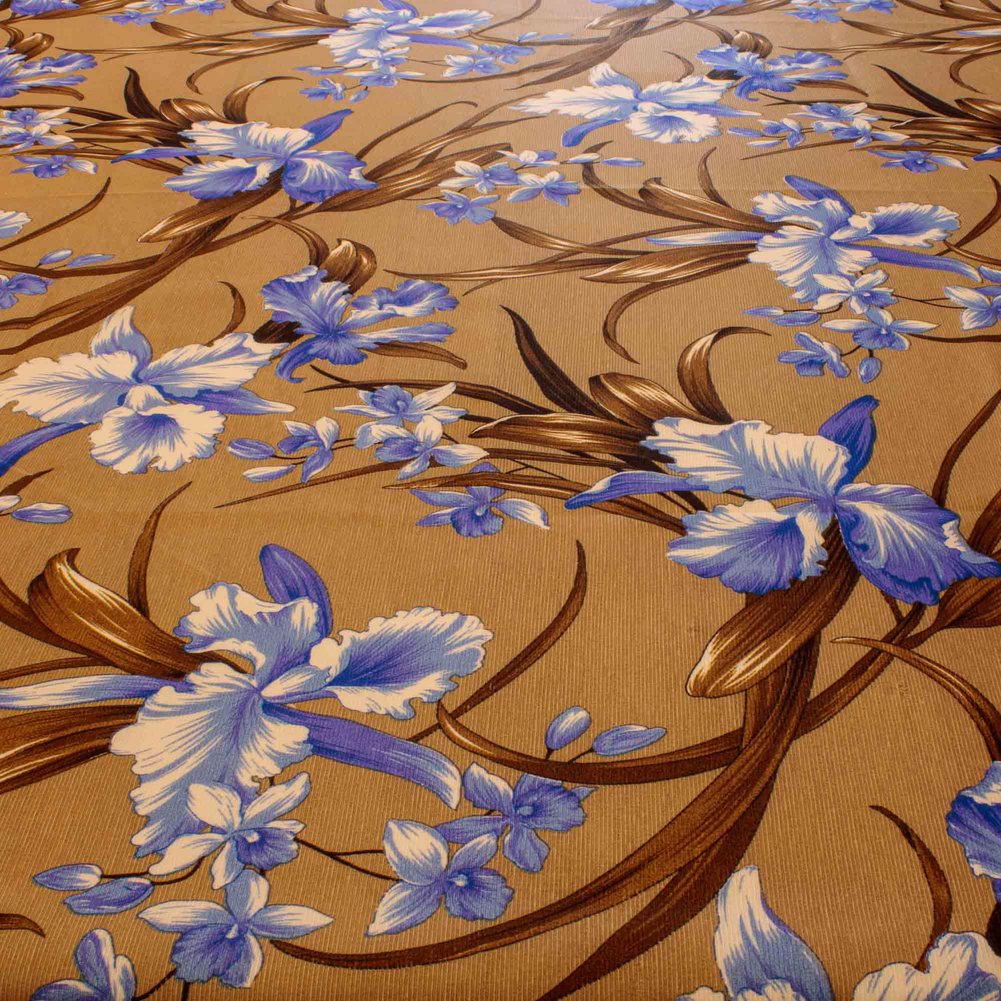 Tecido Gorgurinho Estampado Flores Azuis 1,50 Mt Largura