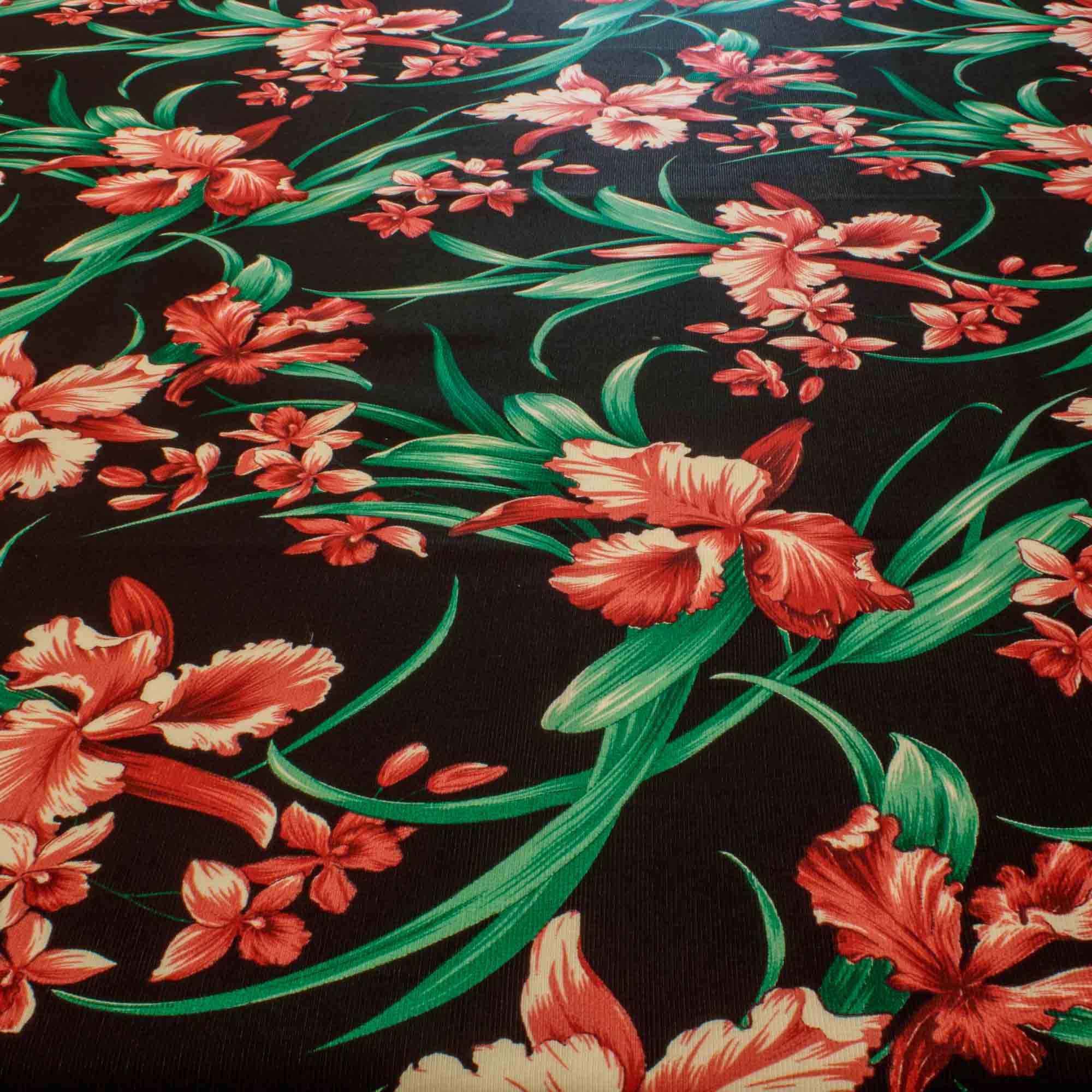 Tecido Gorgurinho Estampado Flores Rosa 1,50 Mt Largura