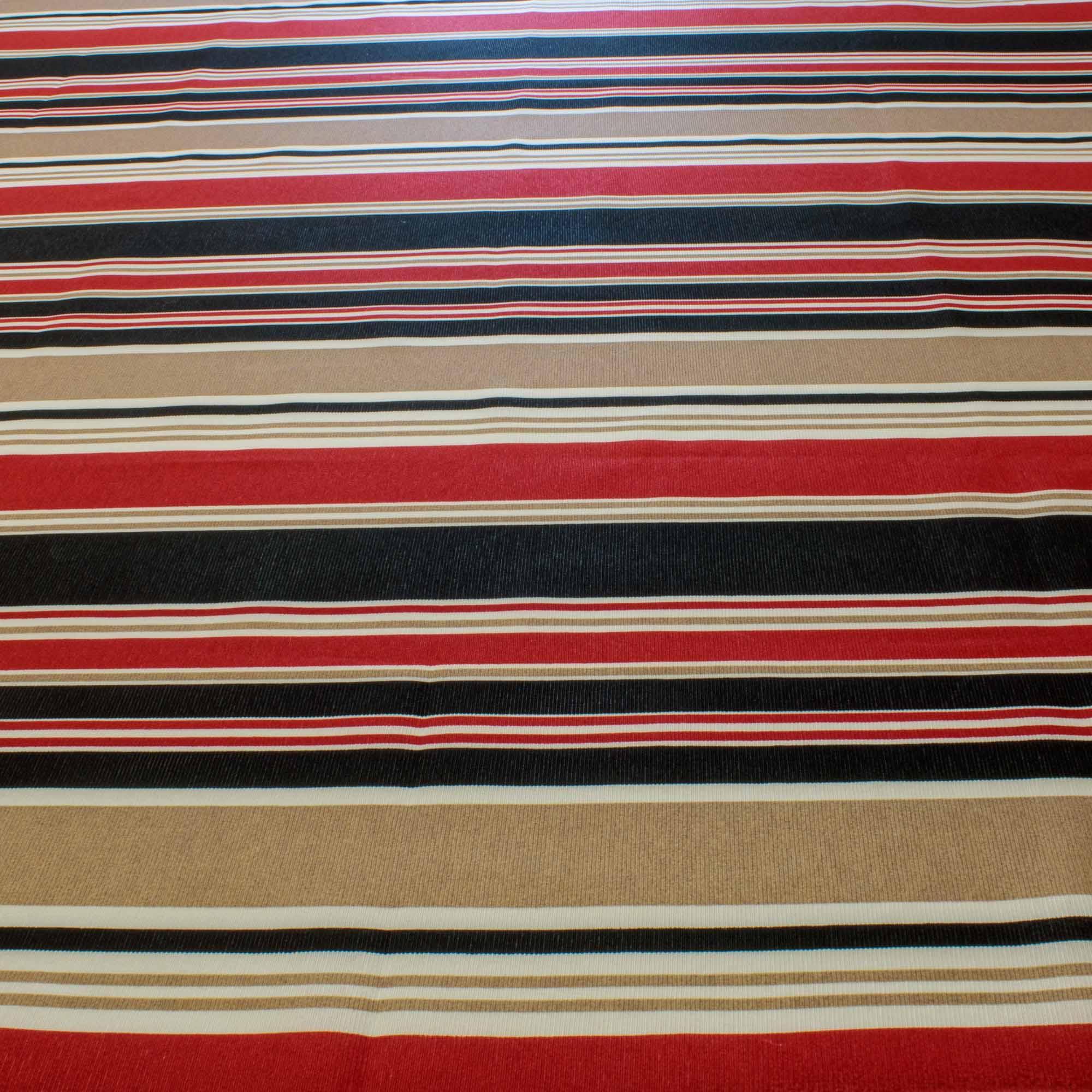 Tecido Gorgurinho Estampado Listrado 1,50 m Largura Vermelho