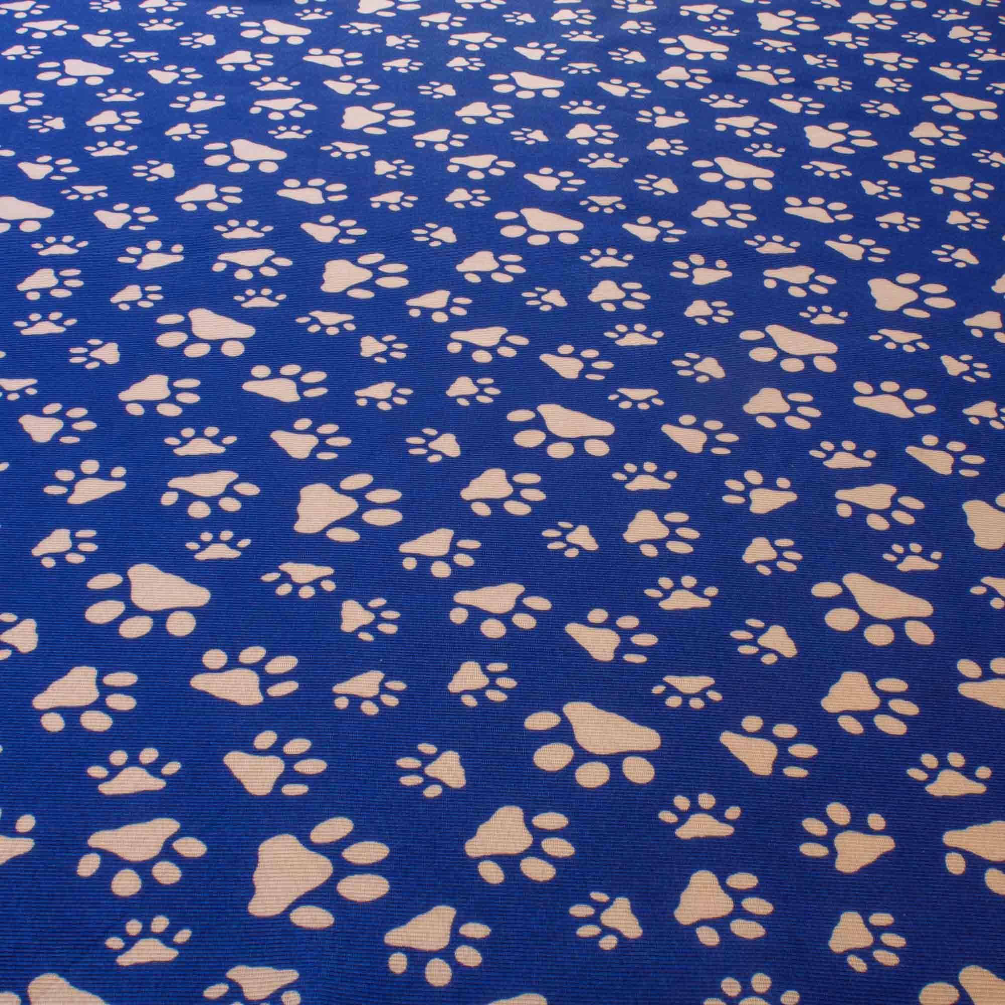 Tecido Gorgurinho Estampado Patas 1,50 Mt Largura Azul
