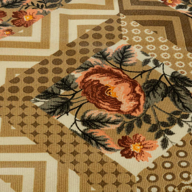 Tecido Gorgurinho Geometrico Floral 1 Metro x 1,50 Mt Castor