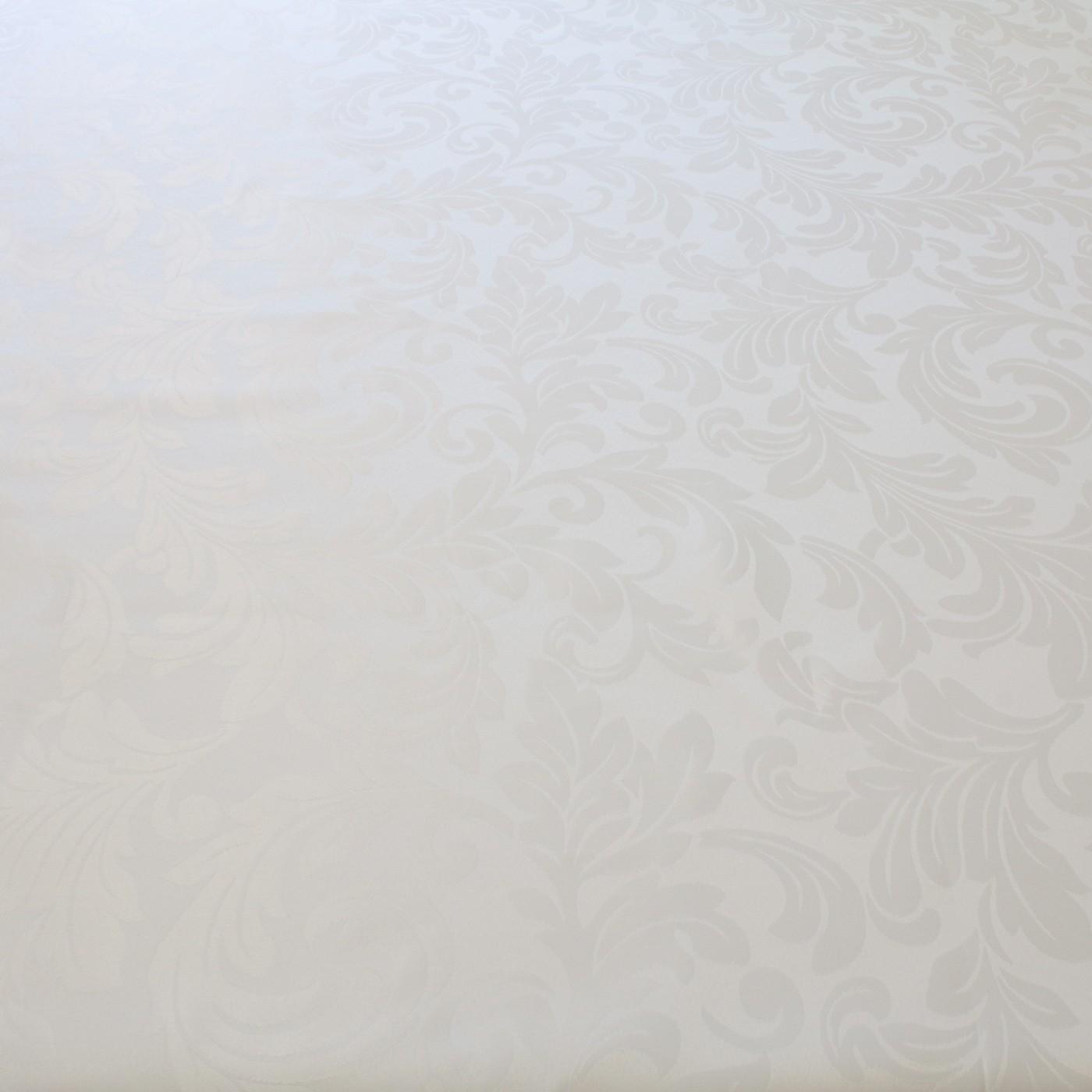 Tecido Jacquard Medalhão para Toalha de Mesa 2,80 m Largura Branco