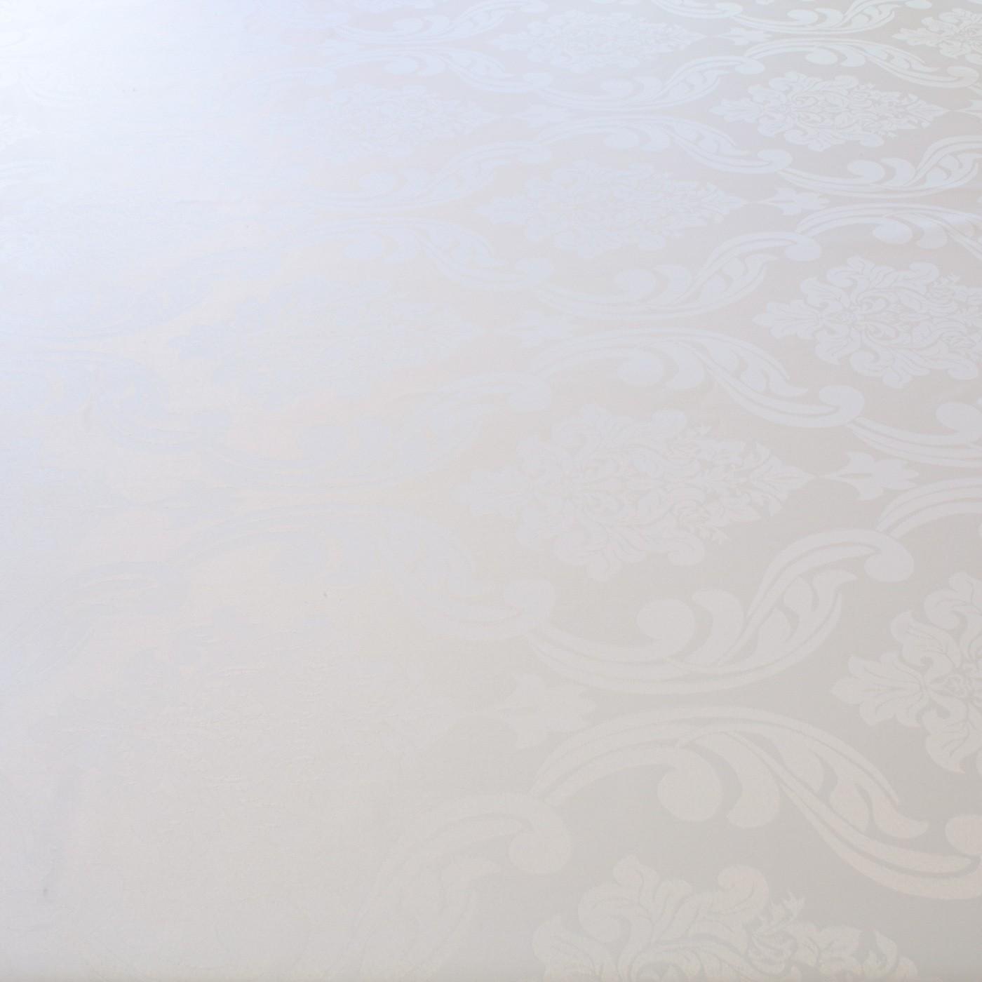 Tecido Jacquard para Toalha de Mesa 2,80 m Largura Medalhão Branco