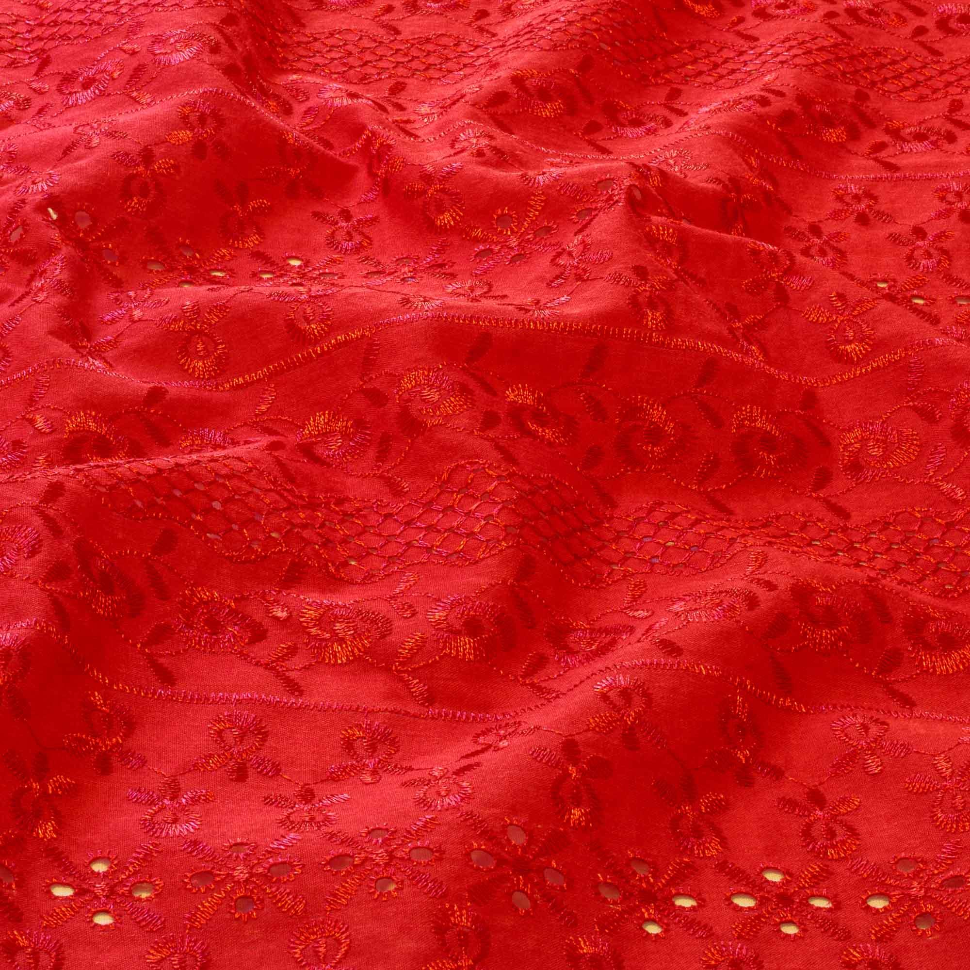 Tecido Laise 80% Poliéster 20% Algodão 1,40 Mt Largura Vermelho