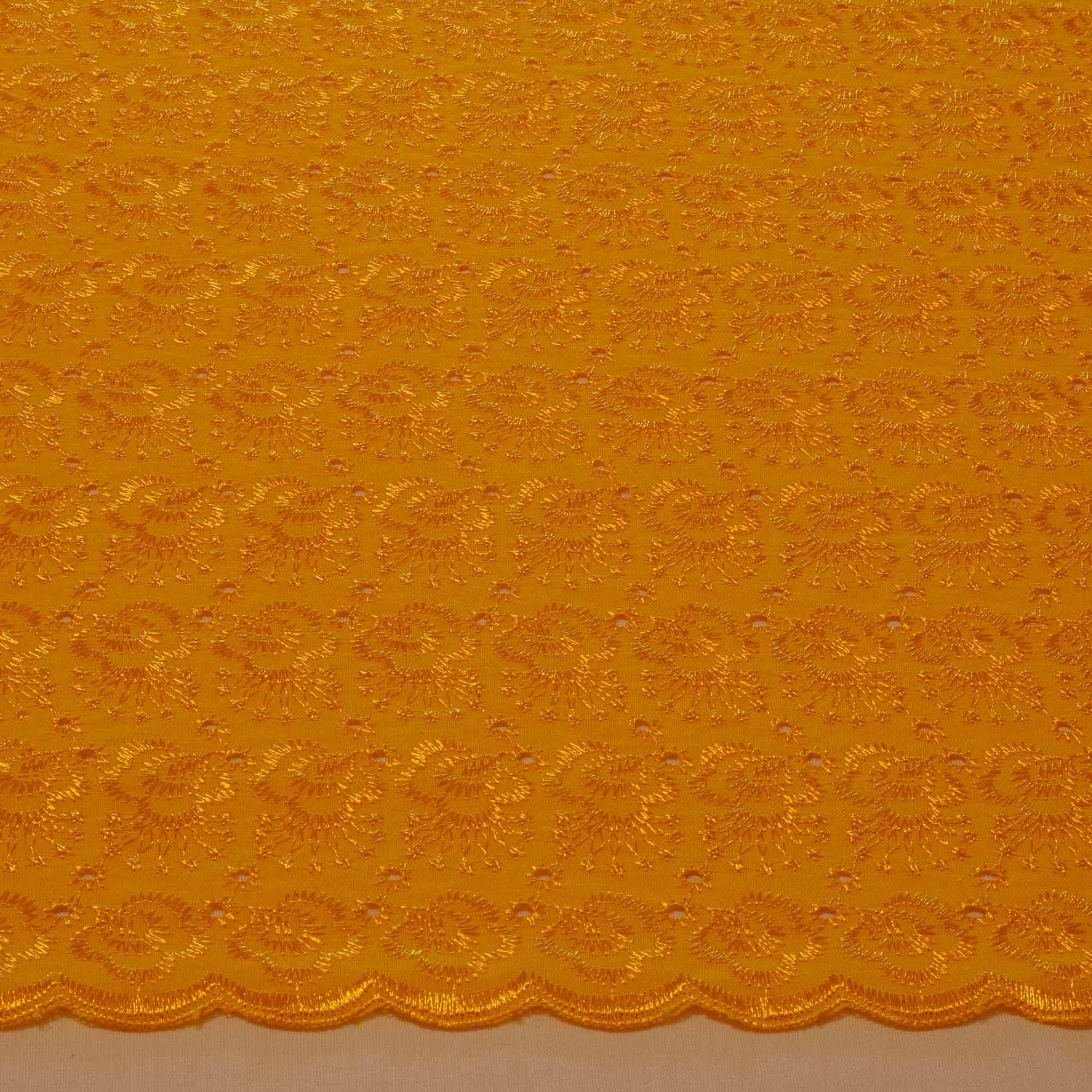 Tecido Laise 80% Poliéster 20% Algodão 1,40 Mt Largura Amarelo