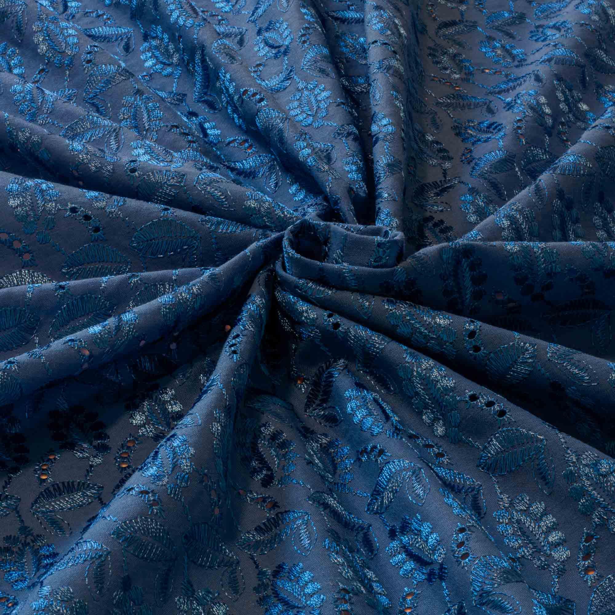 Tecido Laise Azul Royal 100% Algodão 1,40 Mt Largura