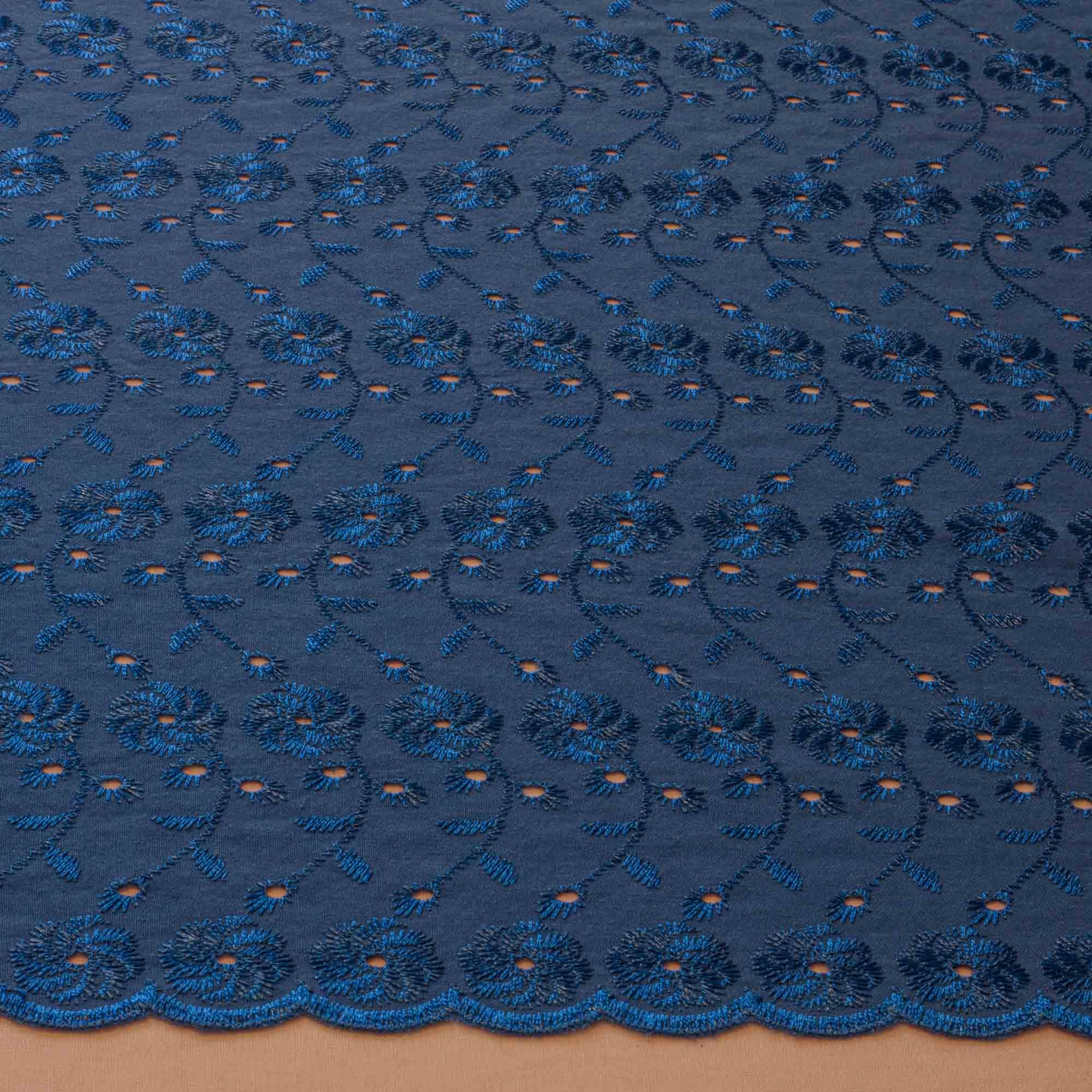 Tecido Laise 80% Poliéster 20% Algodão 1,40 Mt Largura Azul Royal