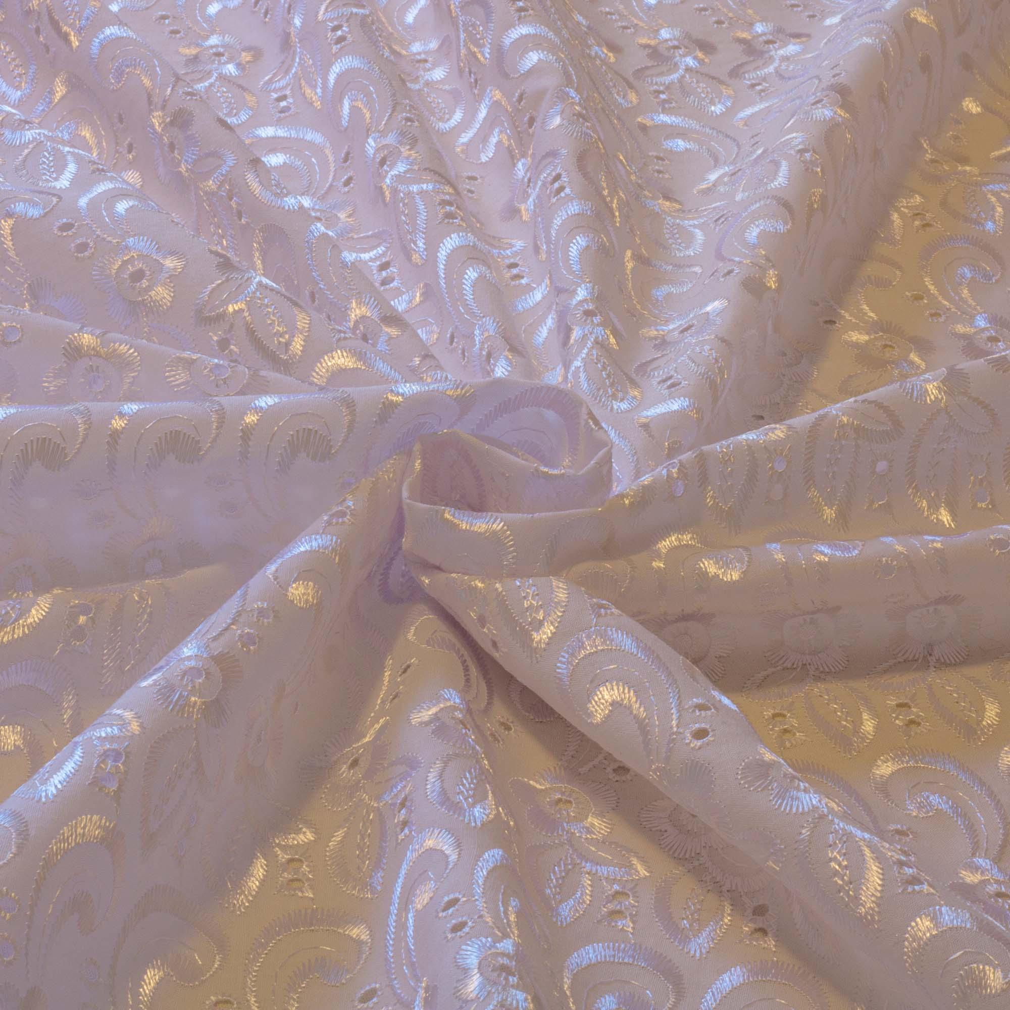 Tecido Laise Branca 80% Poliéster 20% Algodão 1,40 Mt Largura