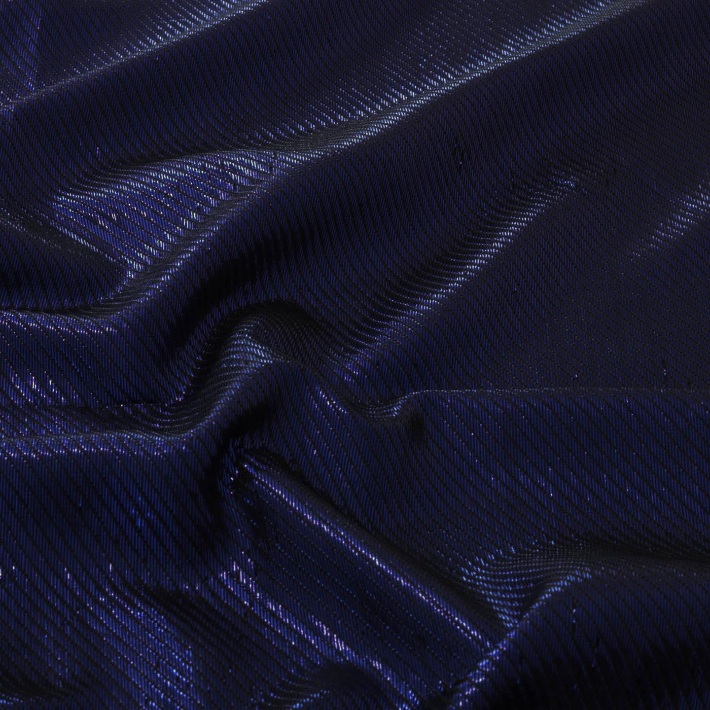 Tecido Lamê Diagonal  85% Poliéster 15% Metálico Azul Royal