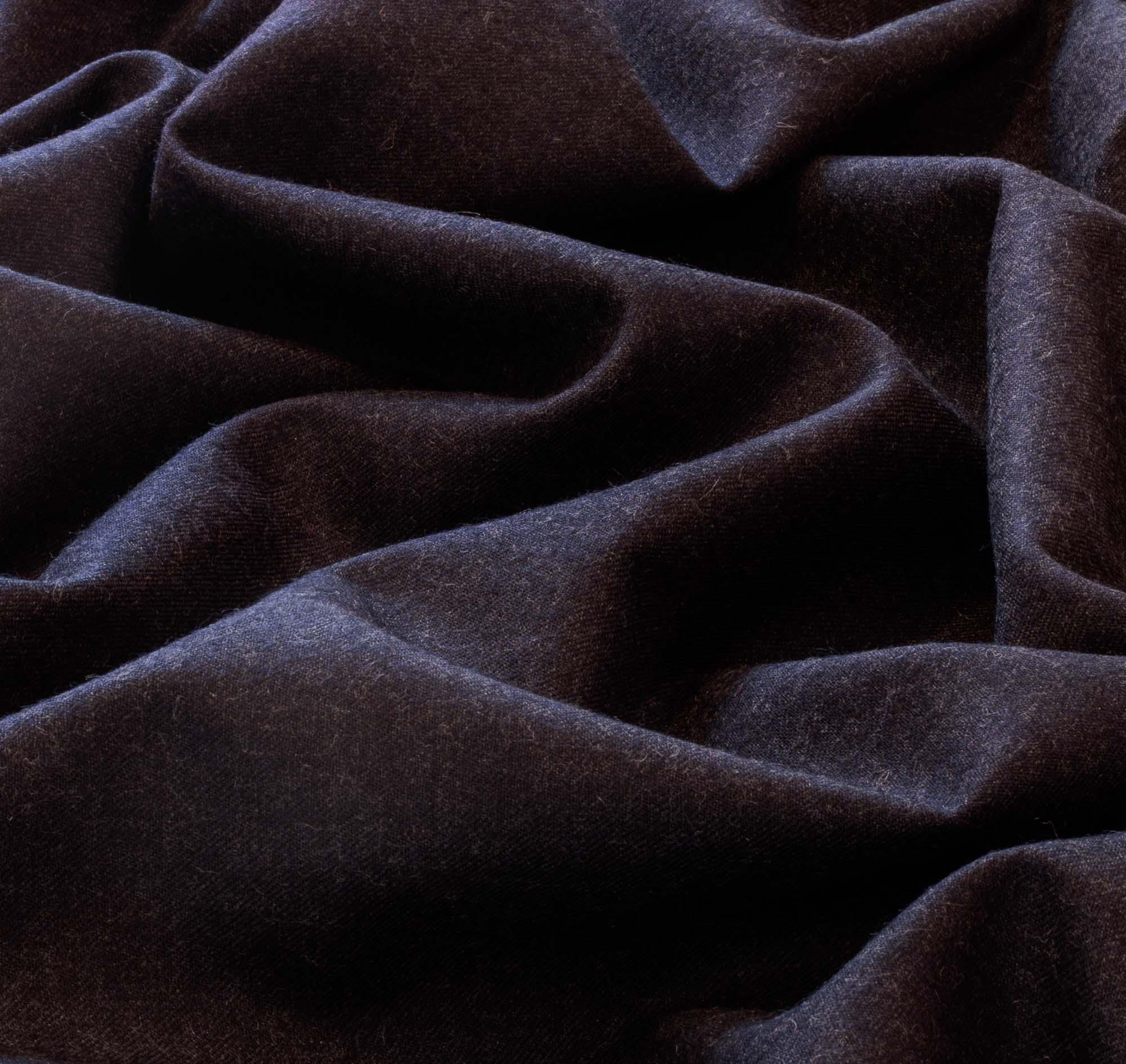 Tecido Lanzinha Azul Escuro 100% Lã 1,50 m Largura