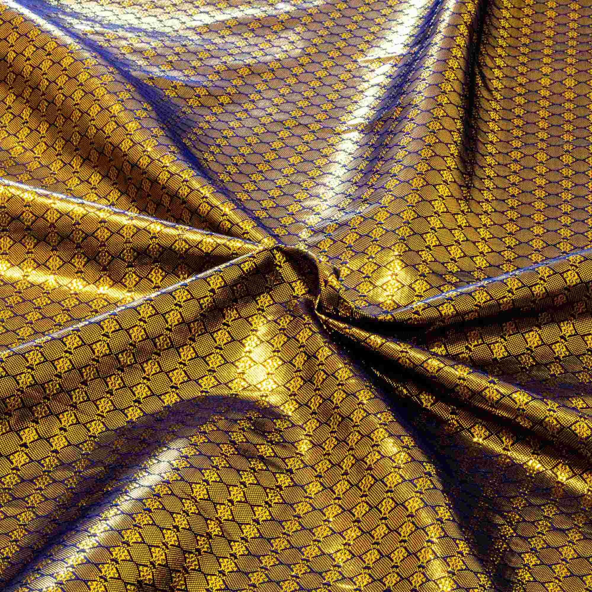 Tecido Lurex Dourado com Brilho 1,10 Mt Largura