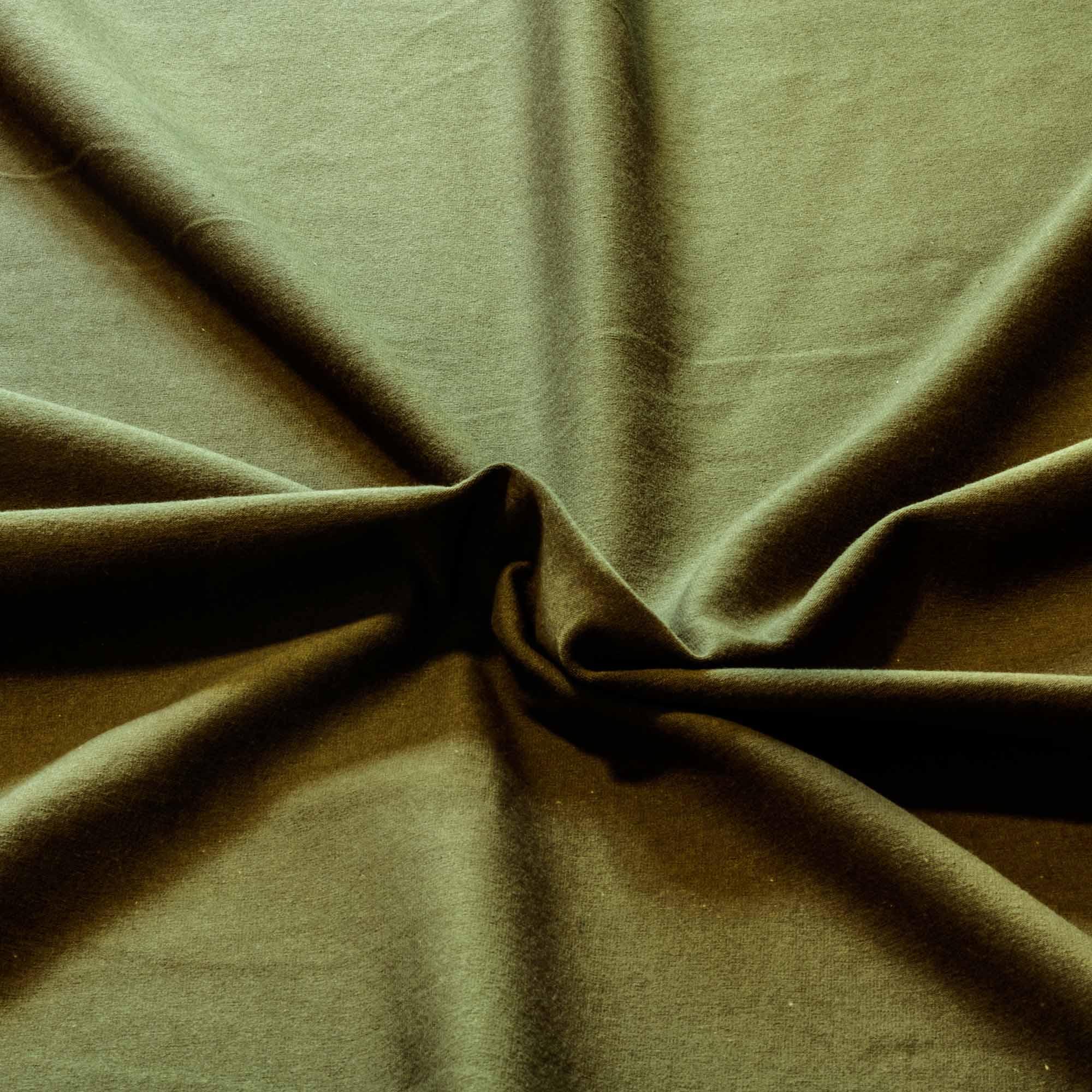 Tecido Malha Cotton Verde Exercito 96% Algodao 4% Elastano 1,80 m Largura
