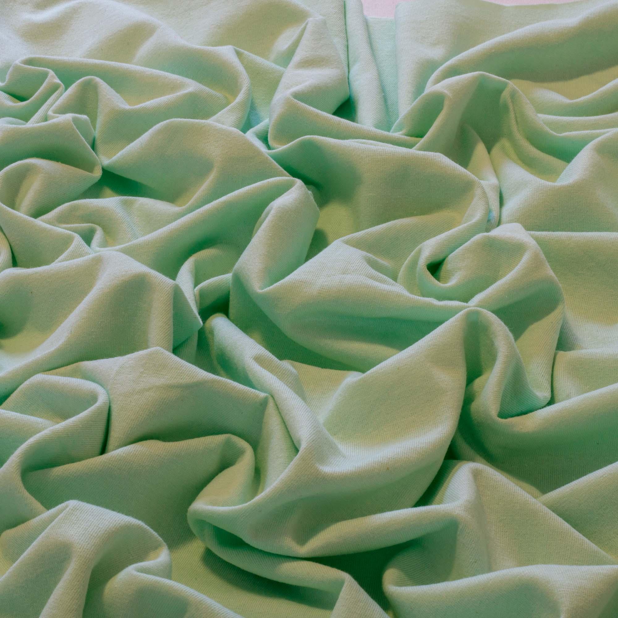 Tecido Malha de Algodão 100% Algodão 1,60 Mt Largura Verde Água