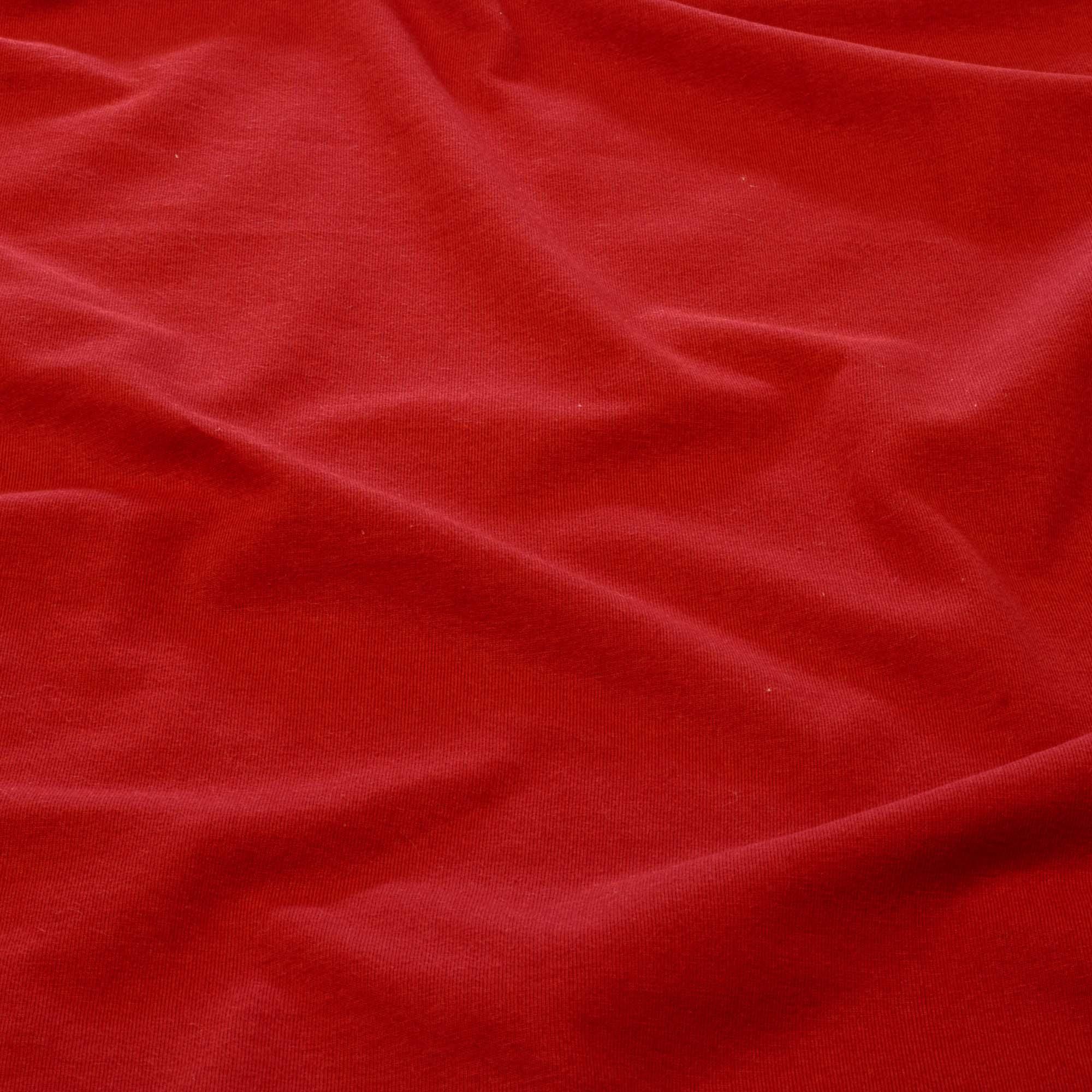 Tecido Malha de Algodão 100% Algodão 1,80 Mt Largura Vermelho