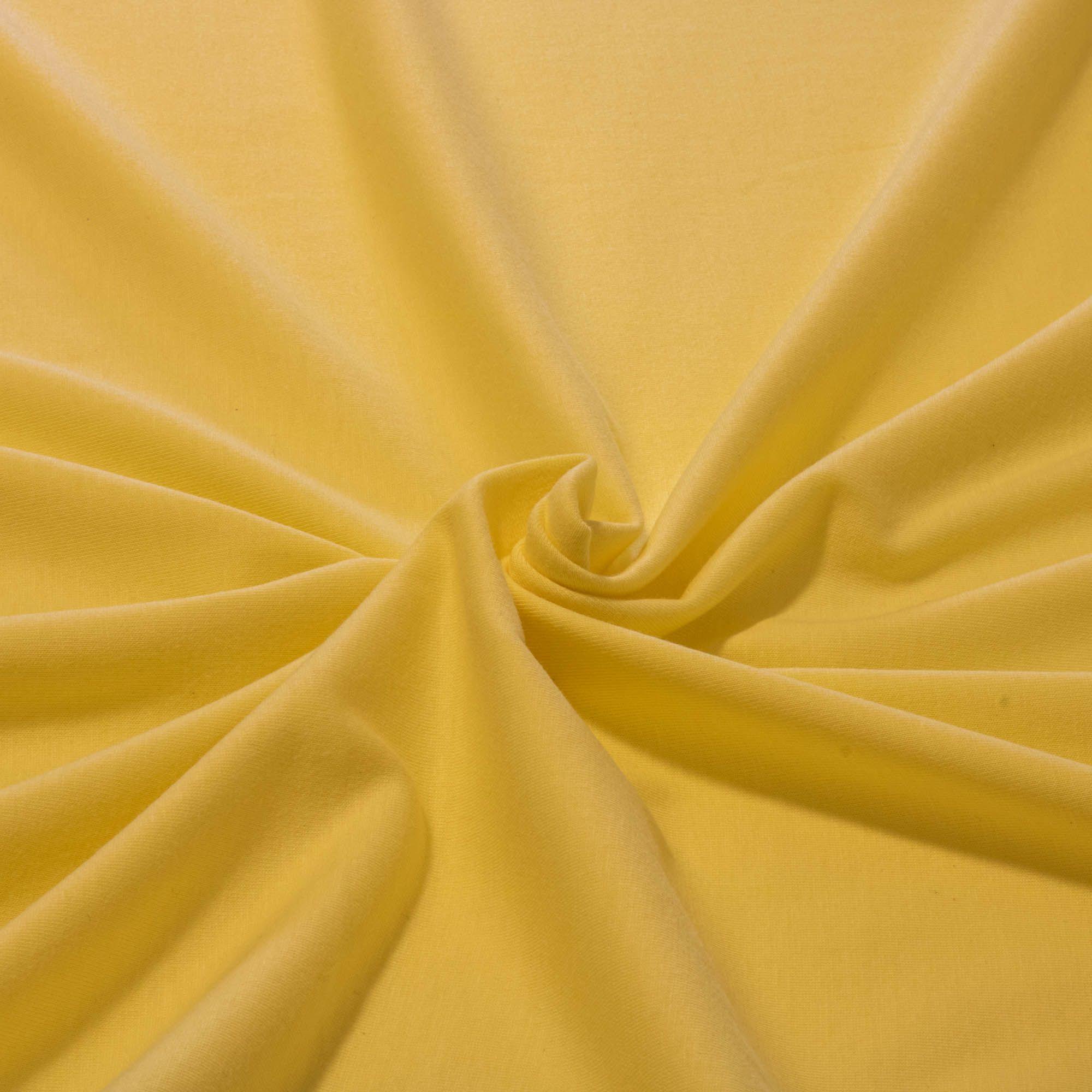 Tecido Malha de Algodão 100% Algodão Amarelo Bebê